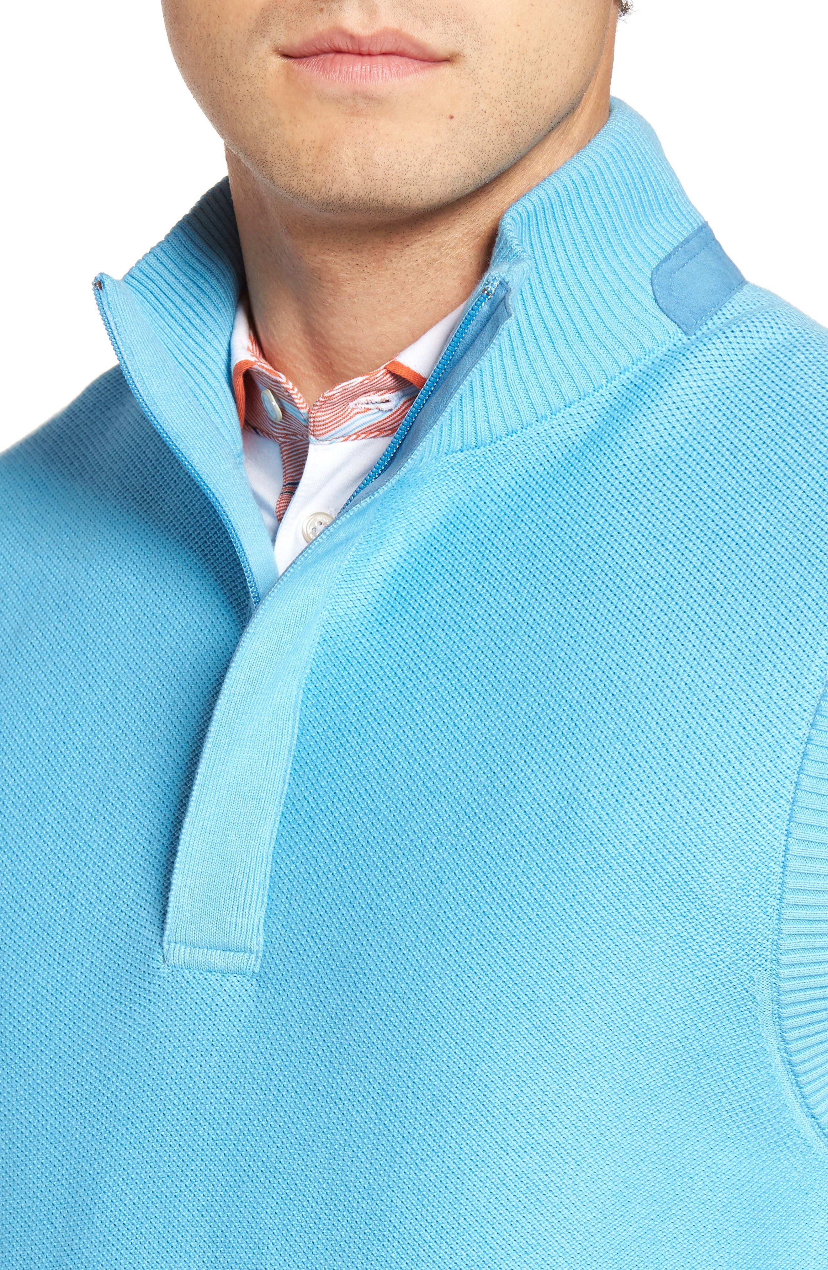 Alternate Image 4  - Bobby Jones Piqué Jersey Quarter Zip Golf Vest