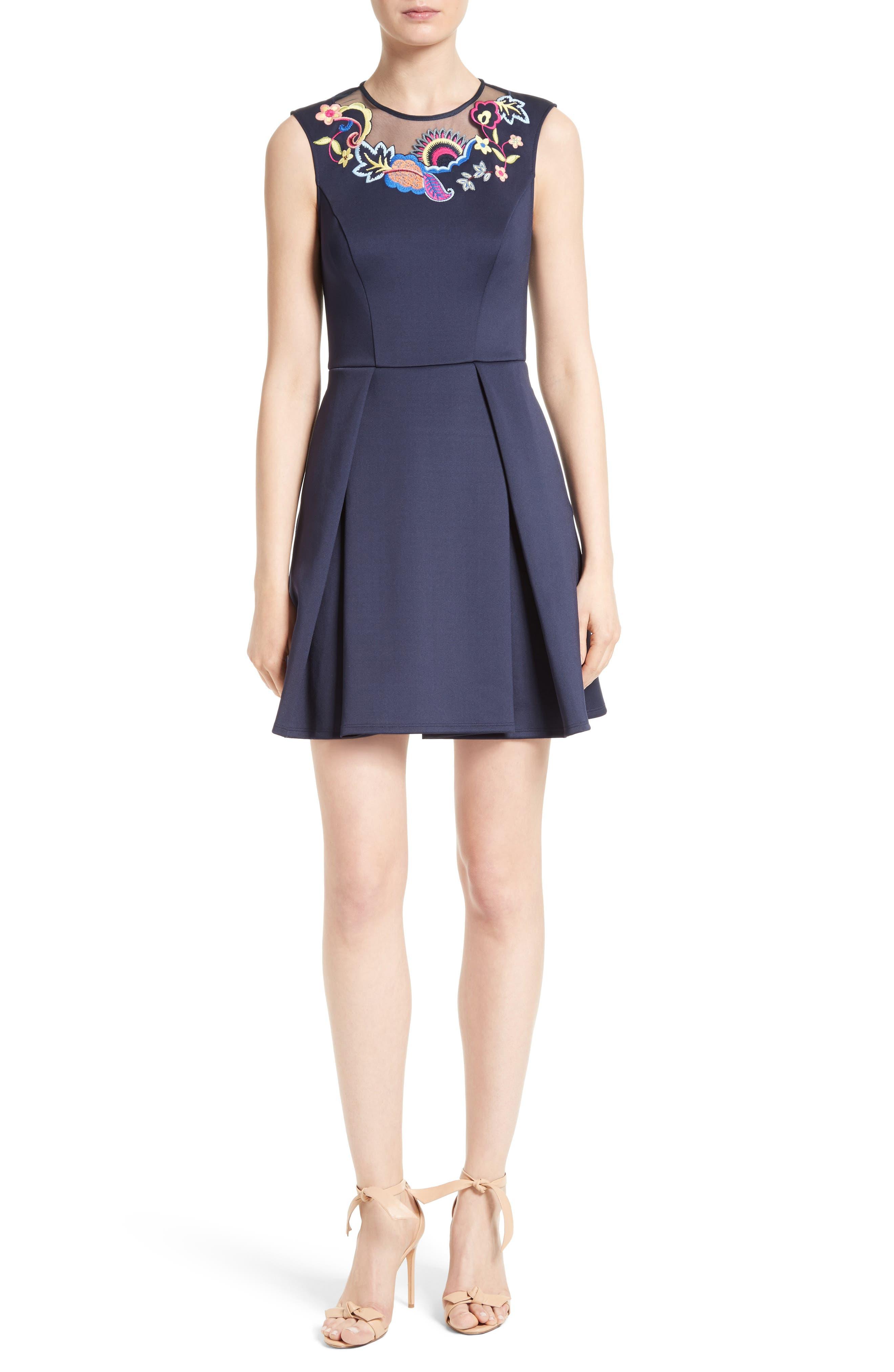Alternate Image 1 Selected - Ted Baker London Lavensa Fit & Flare Dress