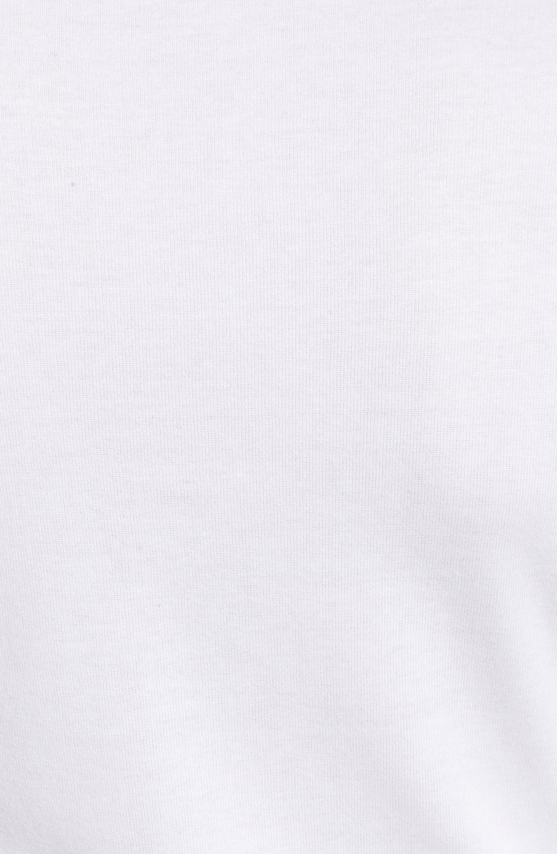 Three Quarter Sleeve Tee,                             Alternate thumbnail 6, color,                             White
