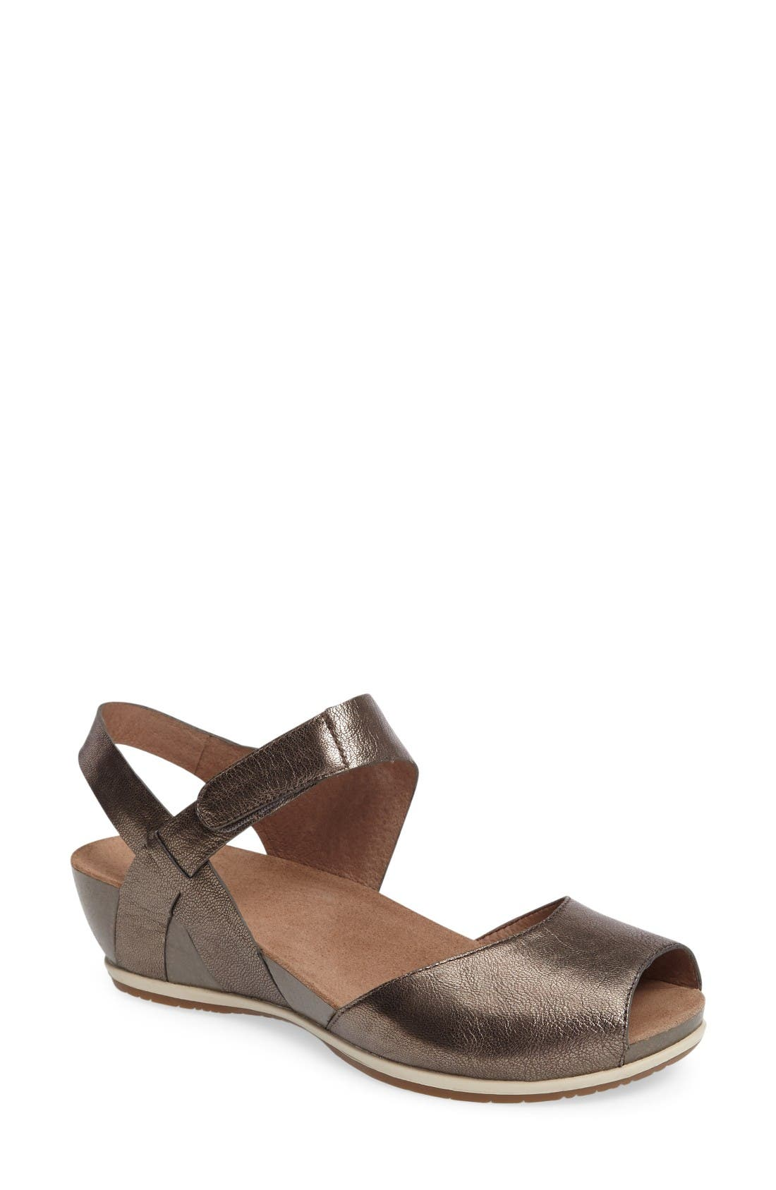 Vera Sandal,                         Main,                         color, Pewter Leather