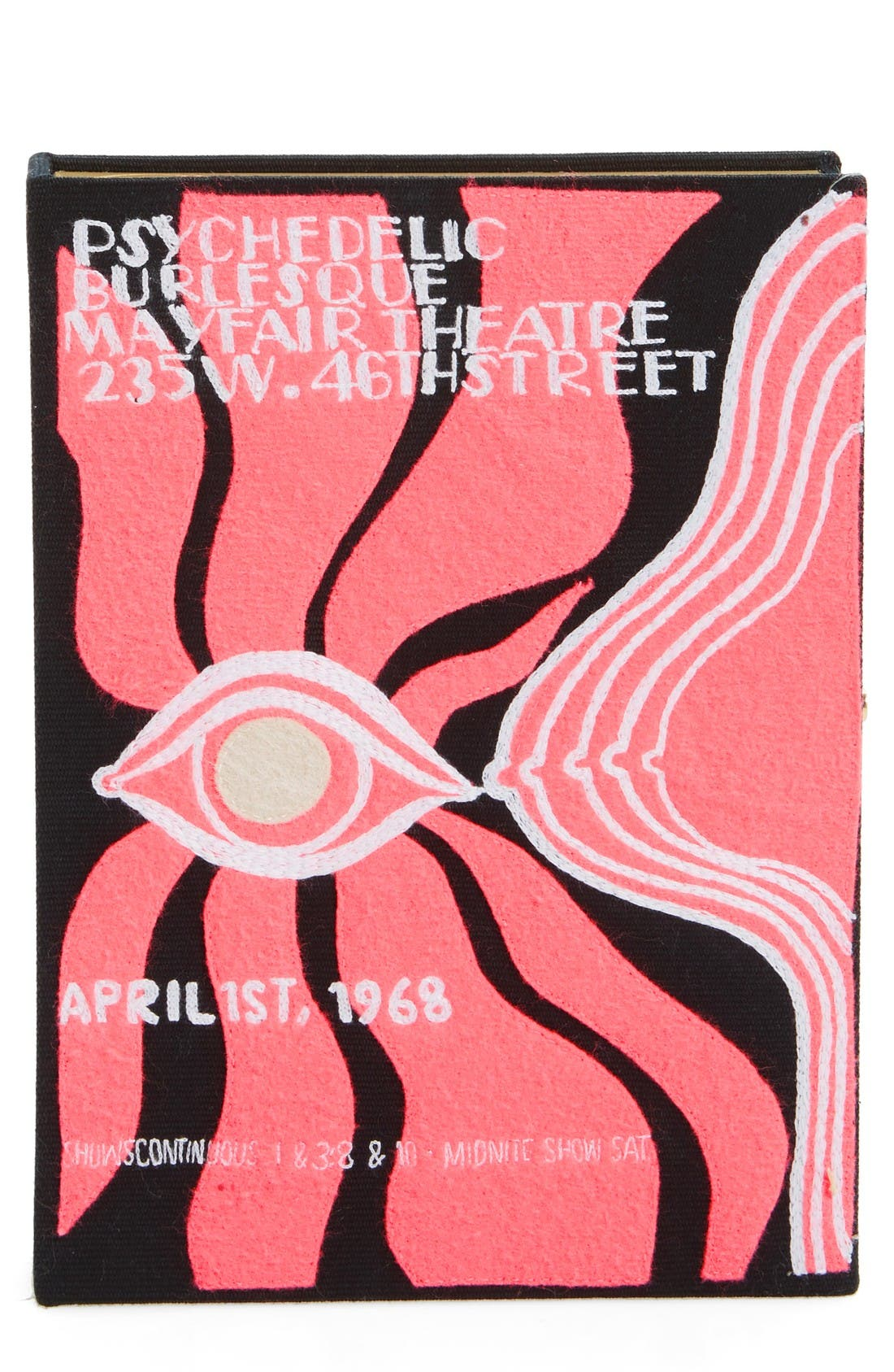 Psychedelic Burlesque Book Clutch,                         Main,                         color, Black