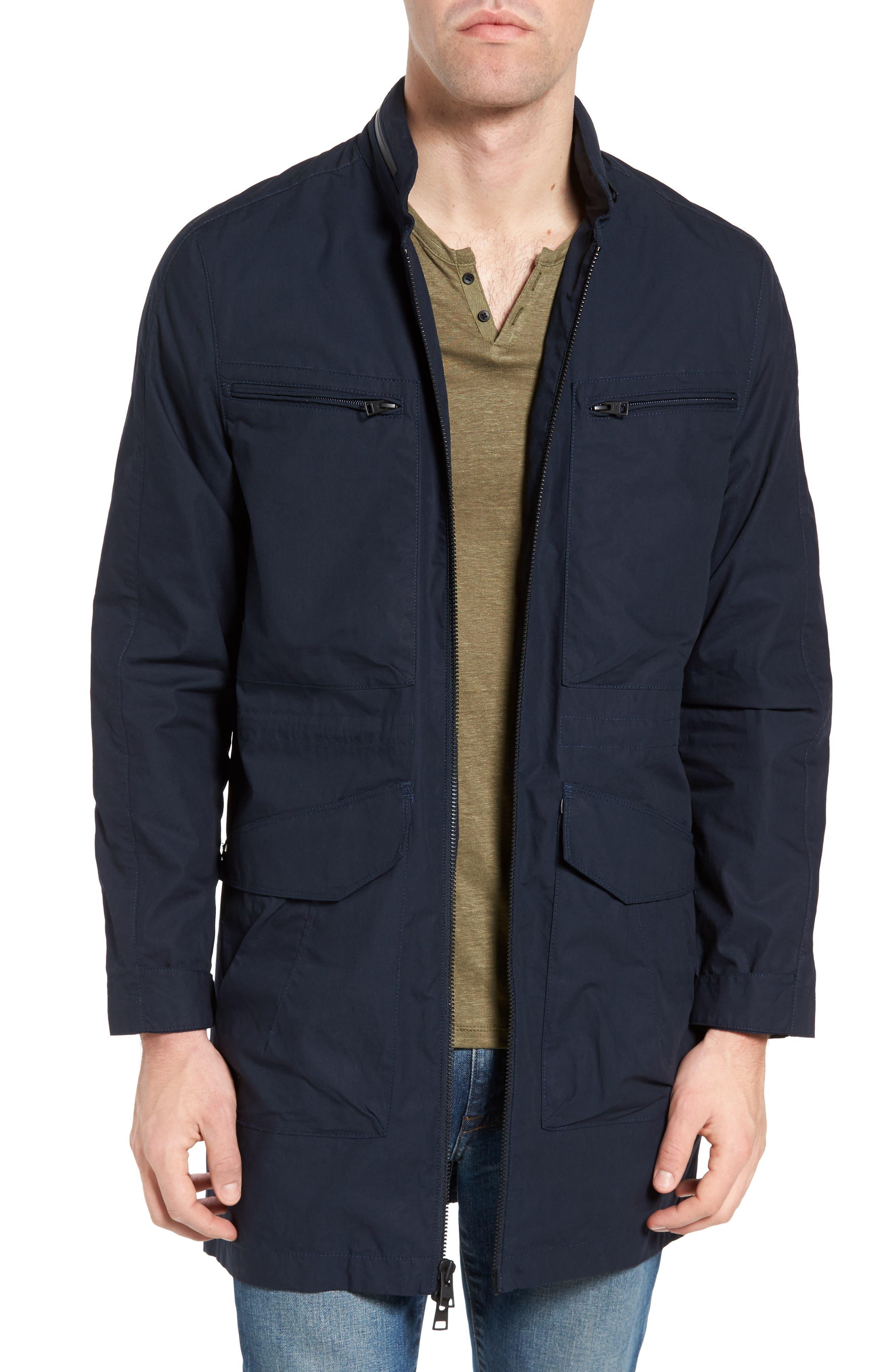Breakaway Trench Coat,                         Main,                         color, Navy