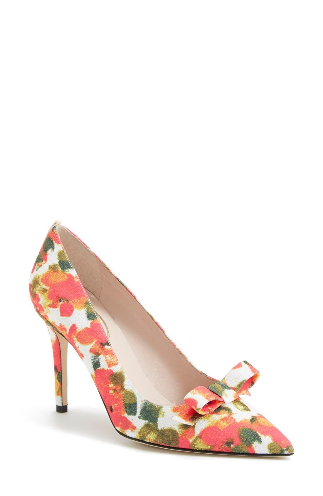 SJP 'Sister' Pointy Toe Pump,                         Main,                         color, Floral Print