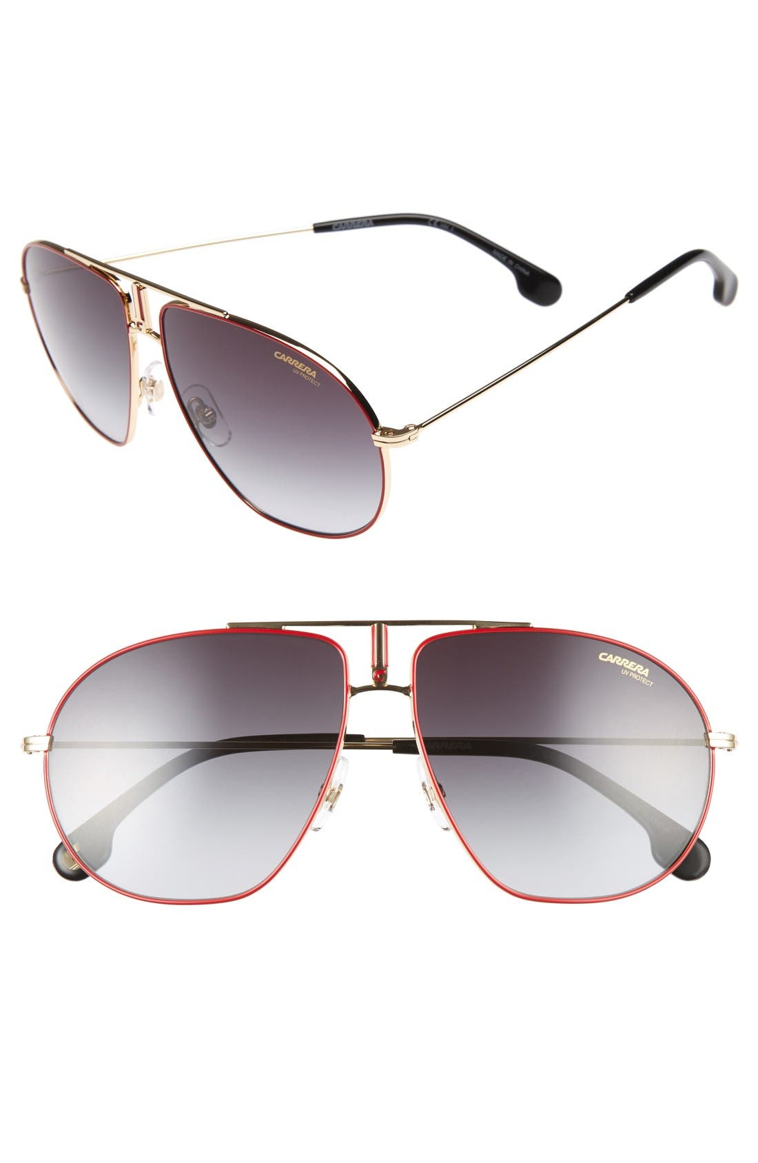 Carrera Bound 62mm Sunglasses,                             Main thumbnail 1, color,                             Red Gold