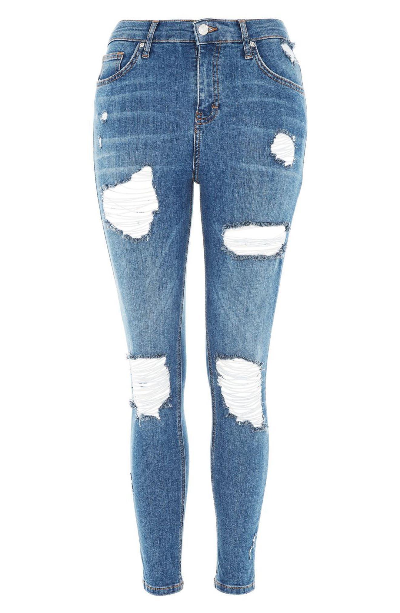 Alternate Image 4  - Topshop Moto Jamie Super Rip Skinny Jeans (Petite)
