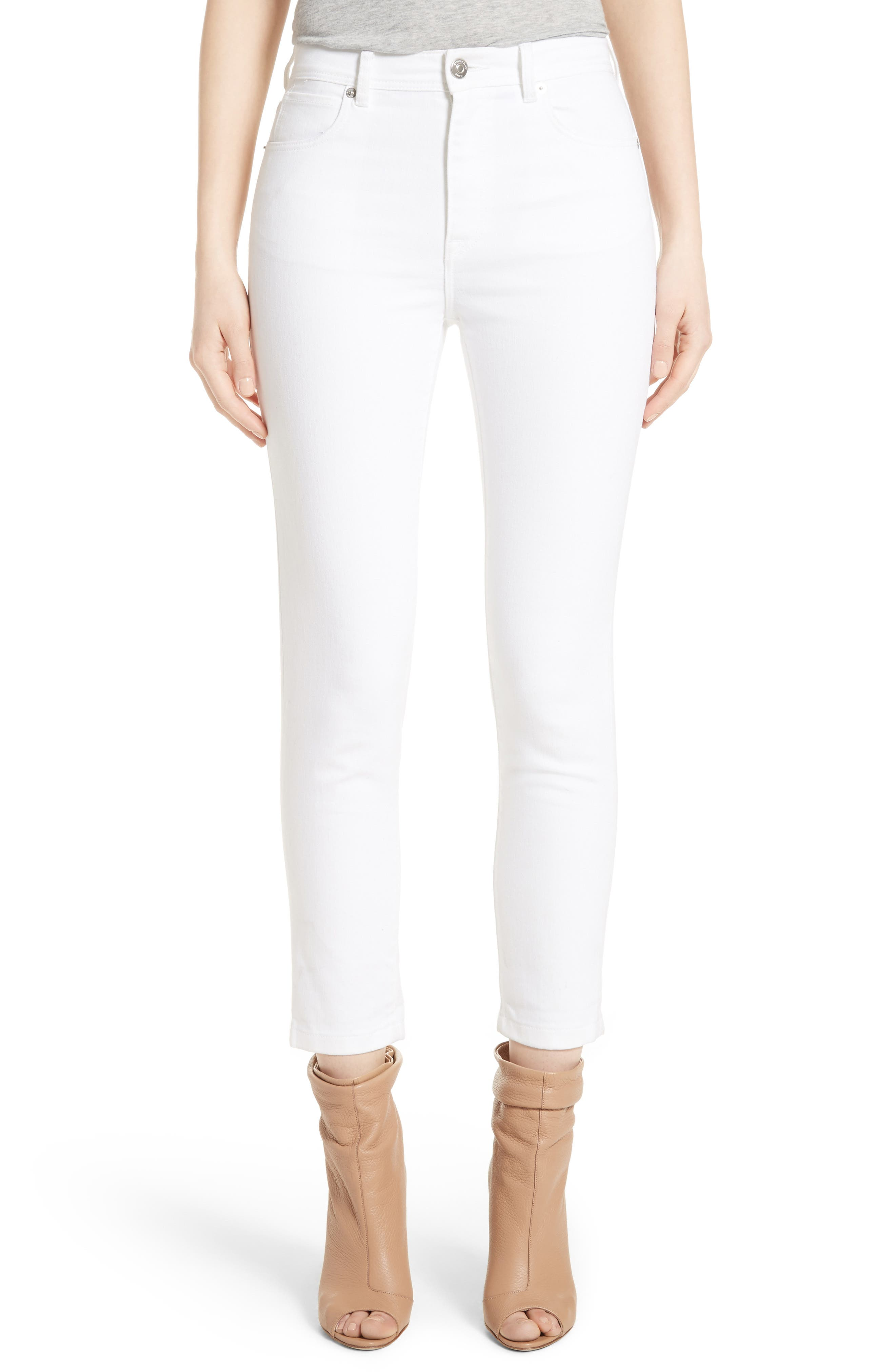 Main Image - Burberry Stretch Crop Skinny Jeans