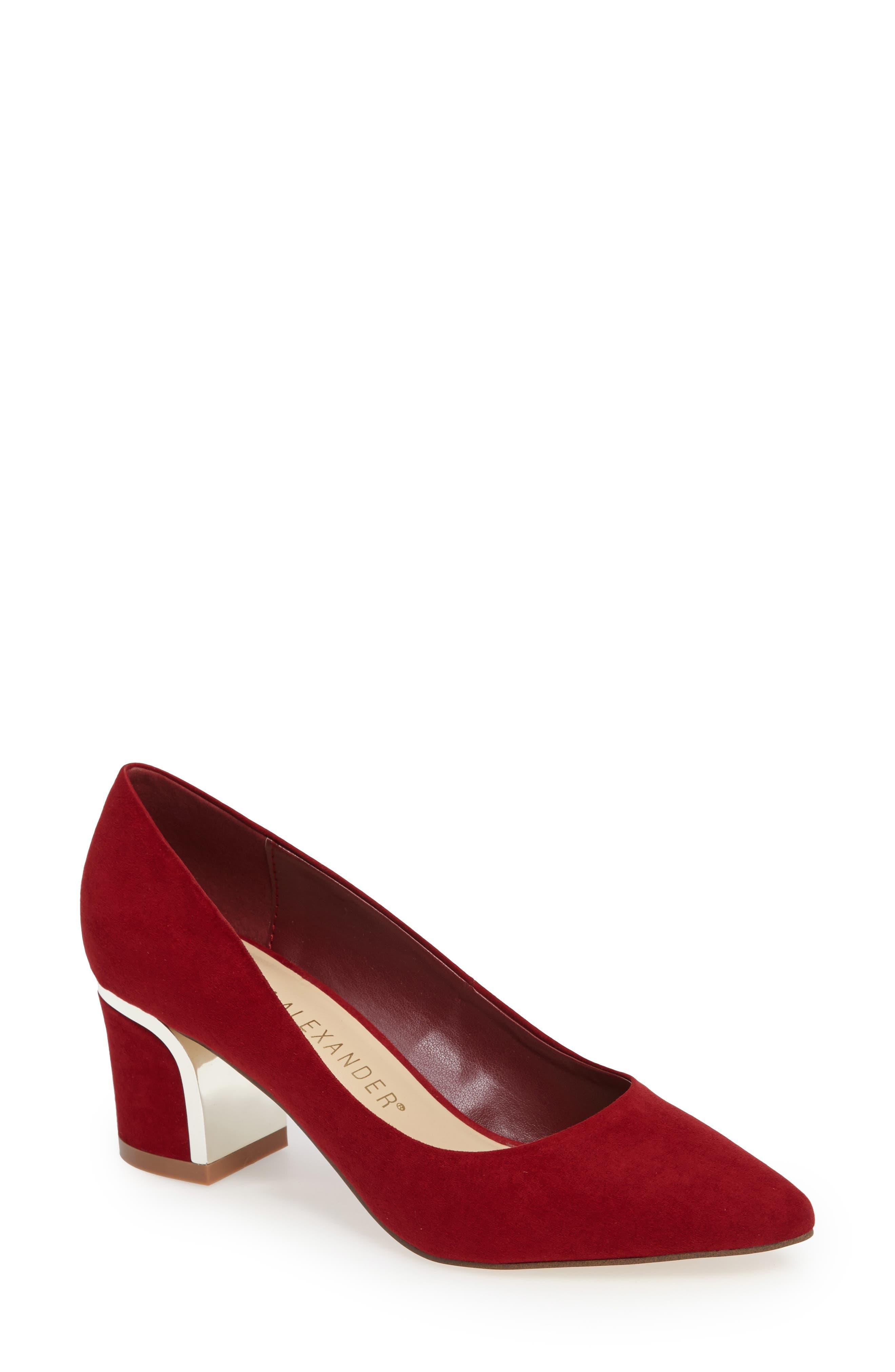 Athena Alexander Zabel Embellished Block Heel Pump (Women)