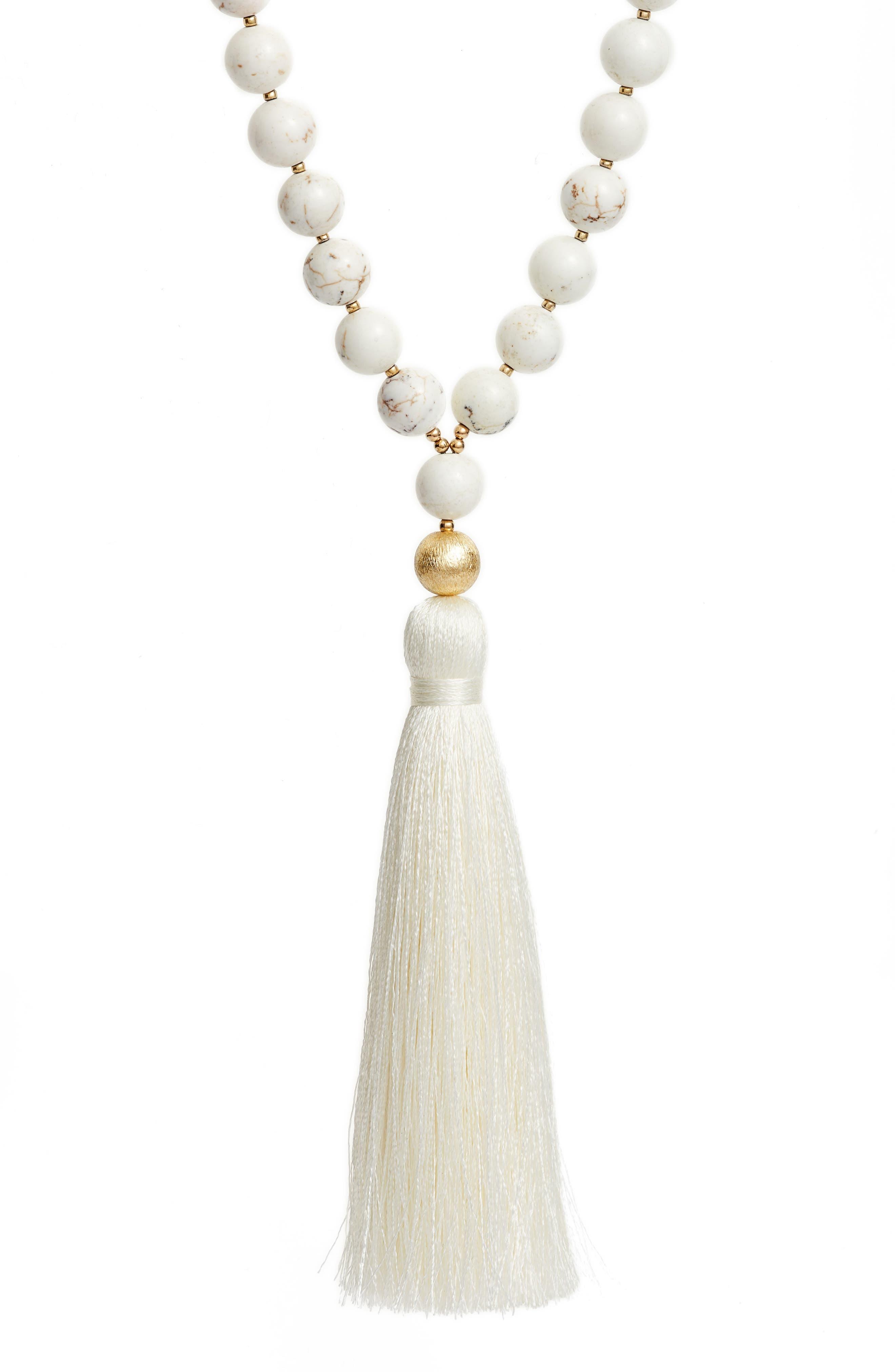 Alternate Image 2  - Love's Affect Elle Semiprecious Stone Tassel Necklace