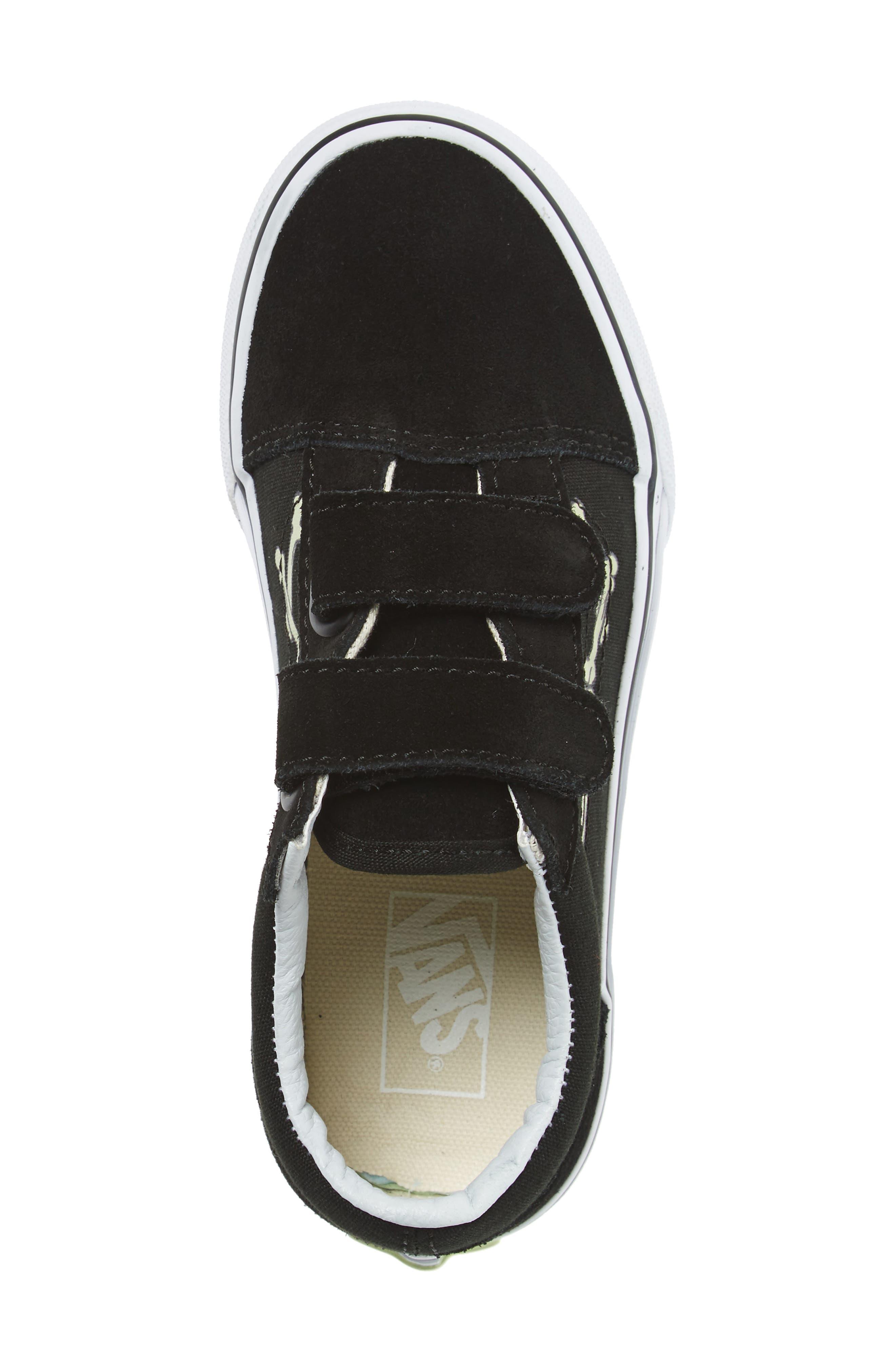 Old Skool Skate Sneaker,                             Alternate thumbnail 3, color,                             Glow Bones Black/ White
