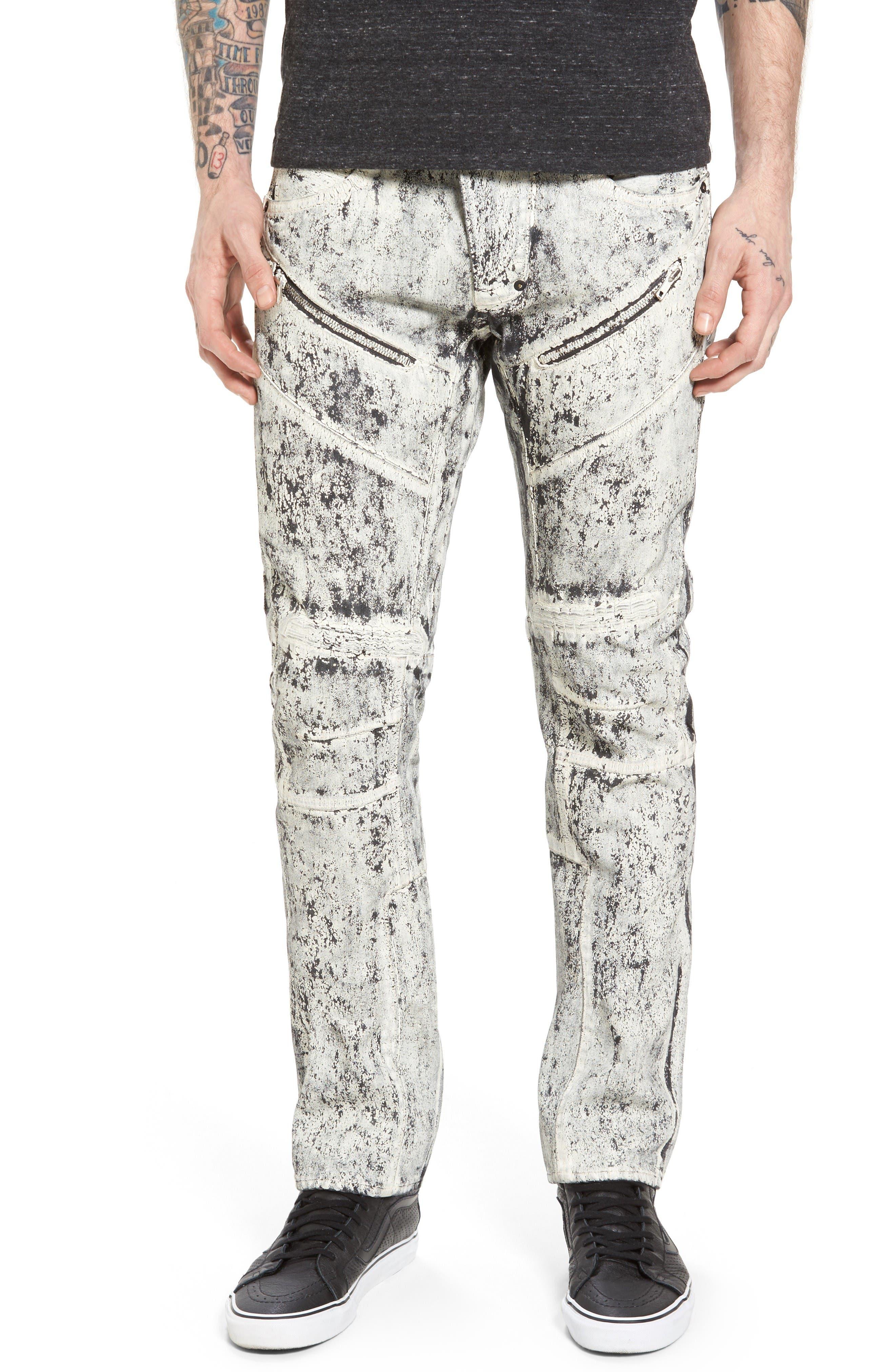 Demon Slim Straight Leg Jeans,                         Main,                         color, White