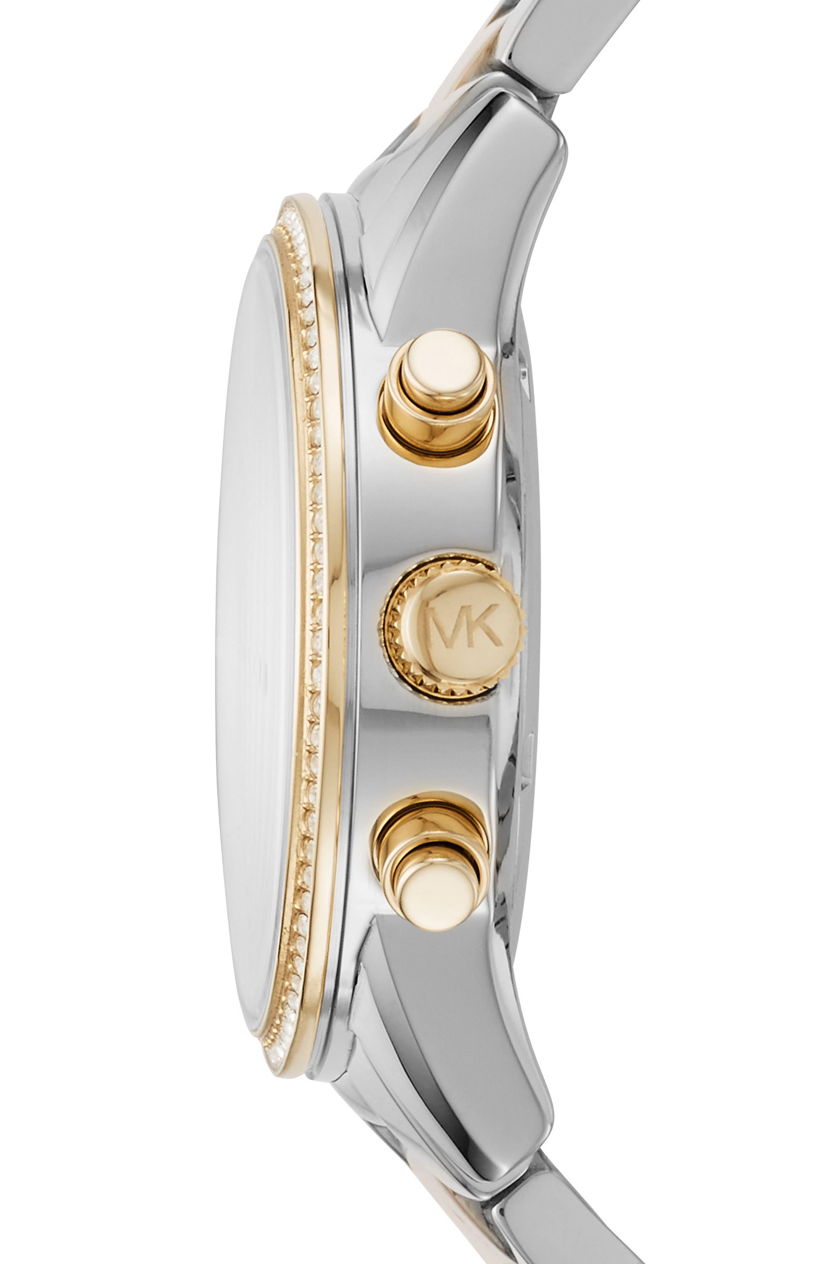 Alternate Image 2  - Michael Kors Ritz Chronograph Bracelet Watch, 37mm