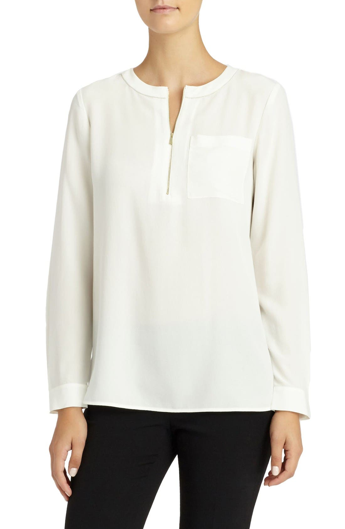Alternate Image 1 Selected - Lafayette 148 New York Veronica Silk Blouse