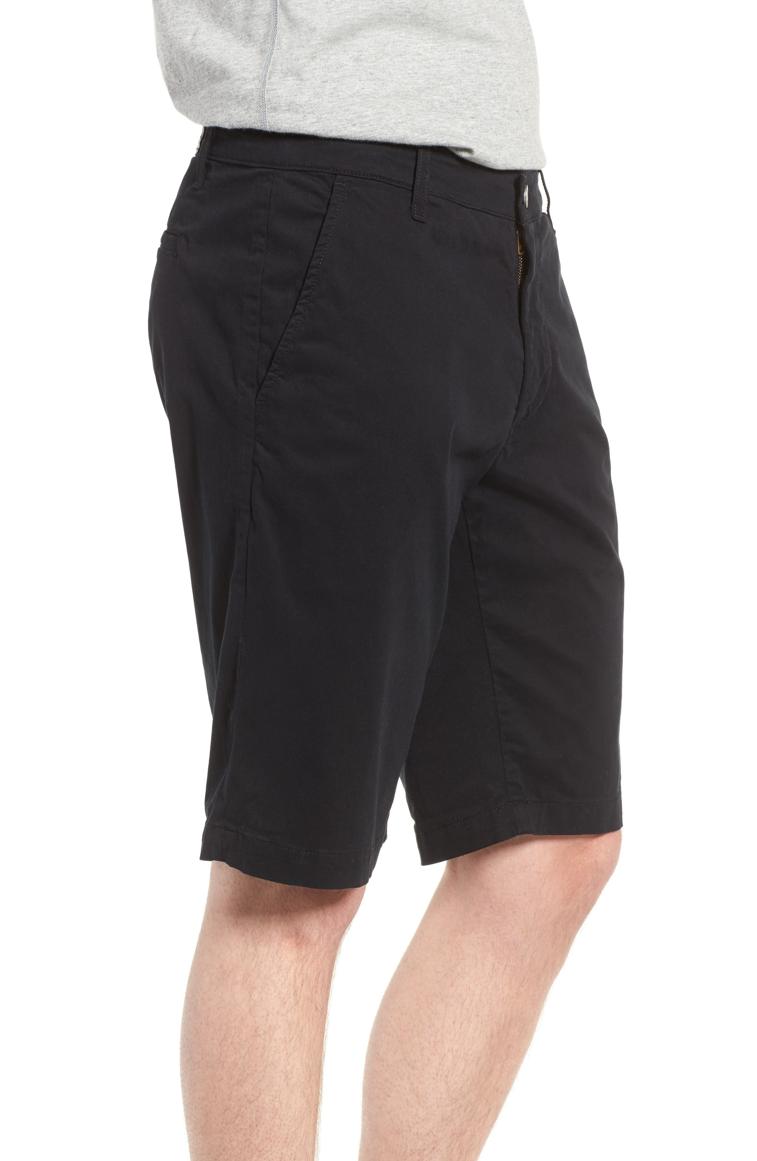 'Griffin' Chino Shorts,                             Alternate thumbnail 3, color,                             Sba Black