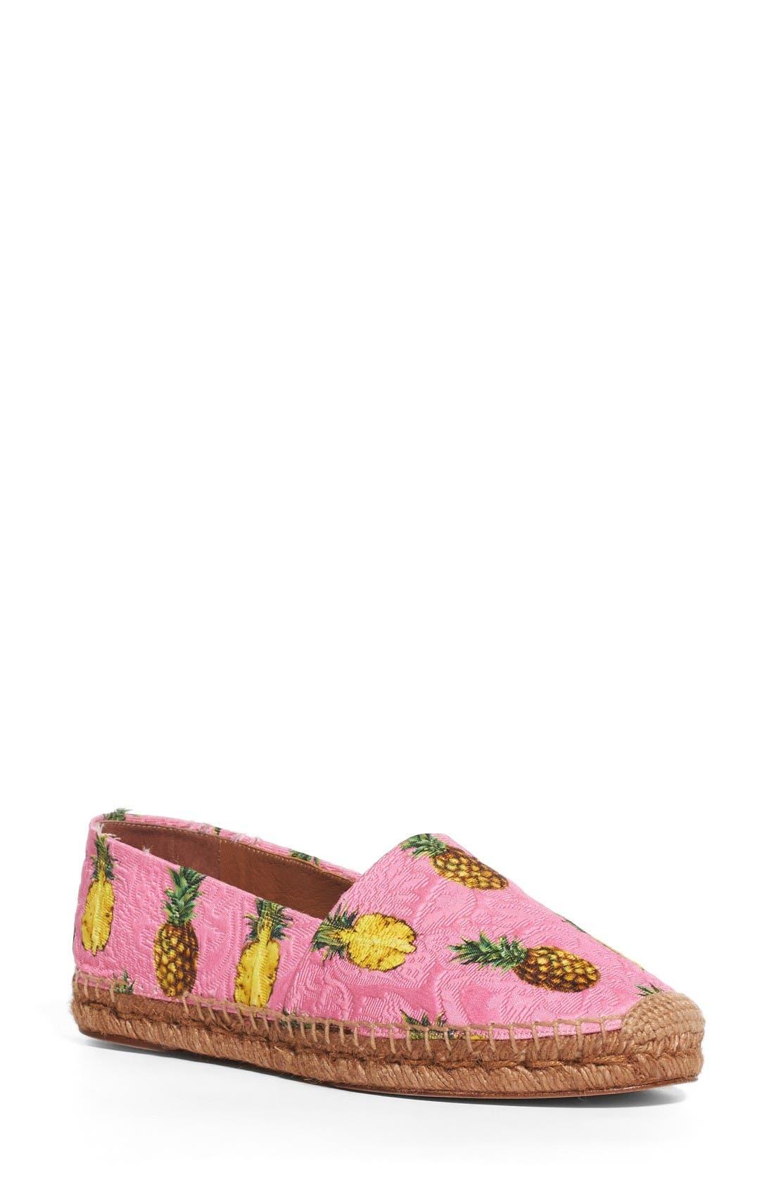 Main Image - Dolce&Gabbana Pineapple Print Espadrille Flat (Women)