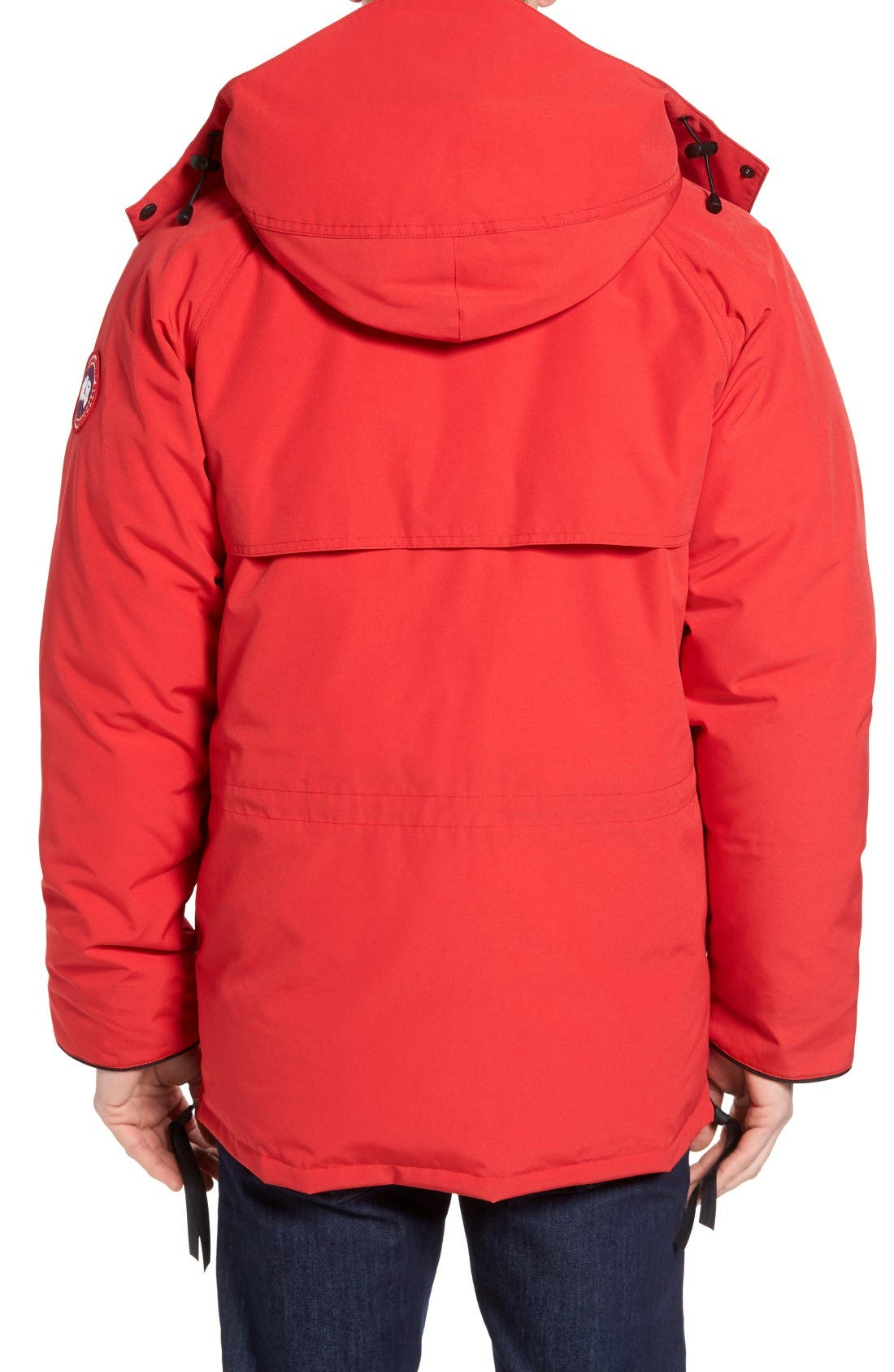 'Constable' Regular Fit Water Resistant Down Parka,                             Alternate thumbnail 2, color,                             Red