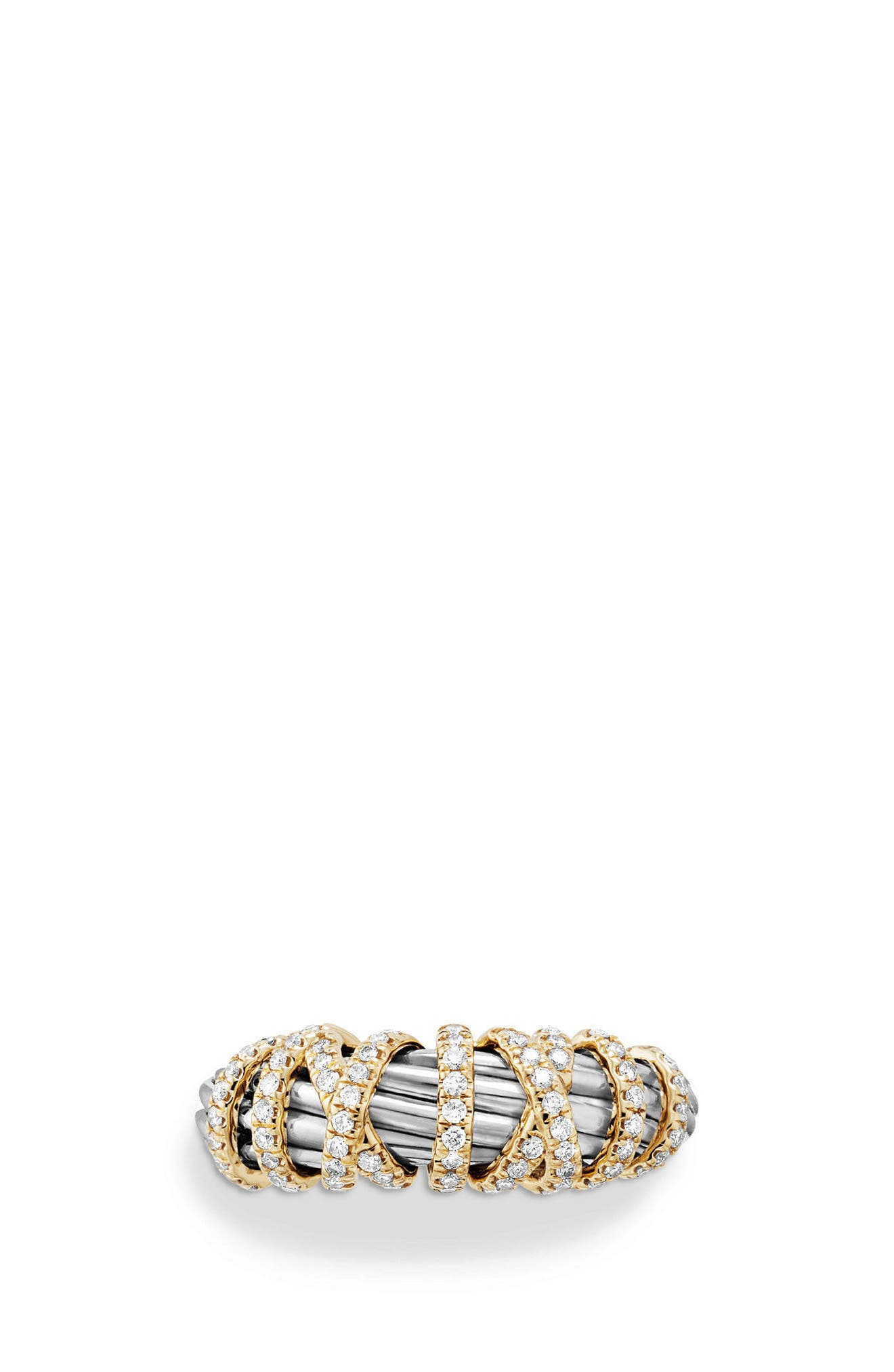 Alternate Image 2  - David Yurman Ring with Diamond and 18K Gold, 8mm