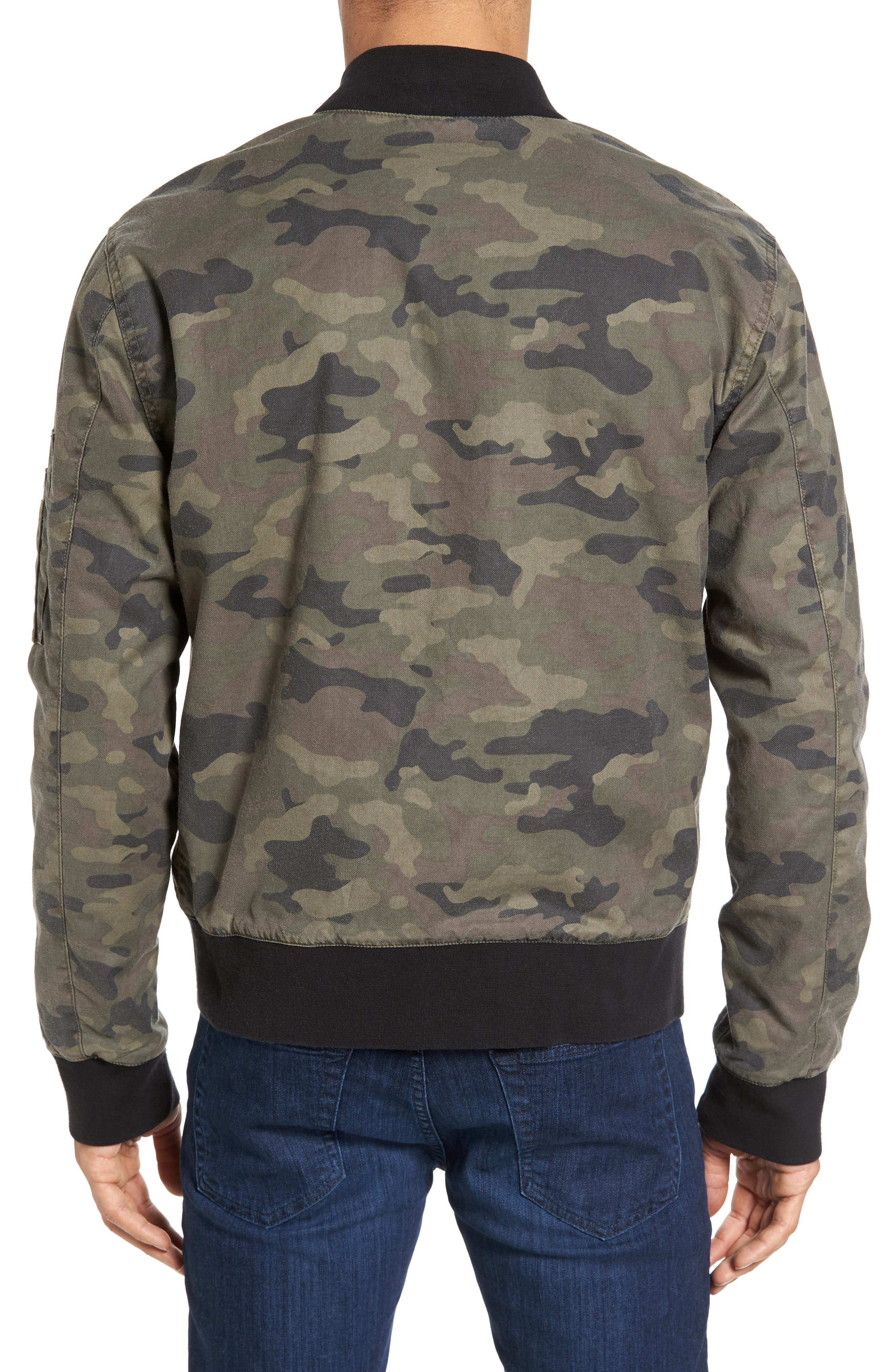 Knox Twill Bomber Jacket,                             Alternate thumbnail 2, color,                             Infantry Camo
