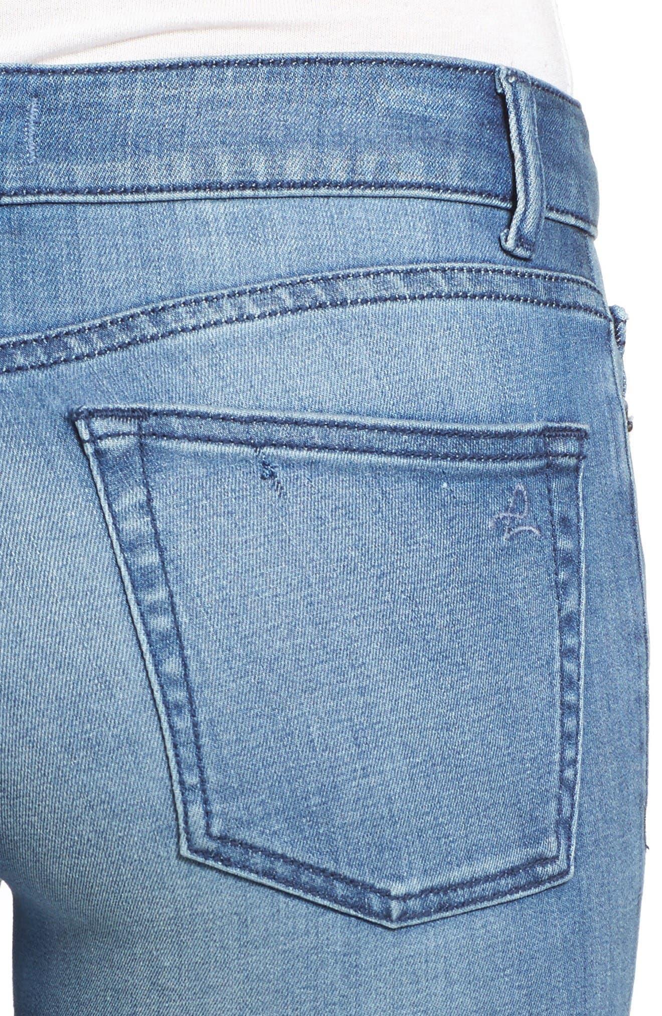 Florence Instasculpt Skinny Jeans,                             Alternate thumbnail 4, color,                             Godiva