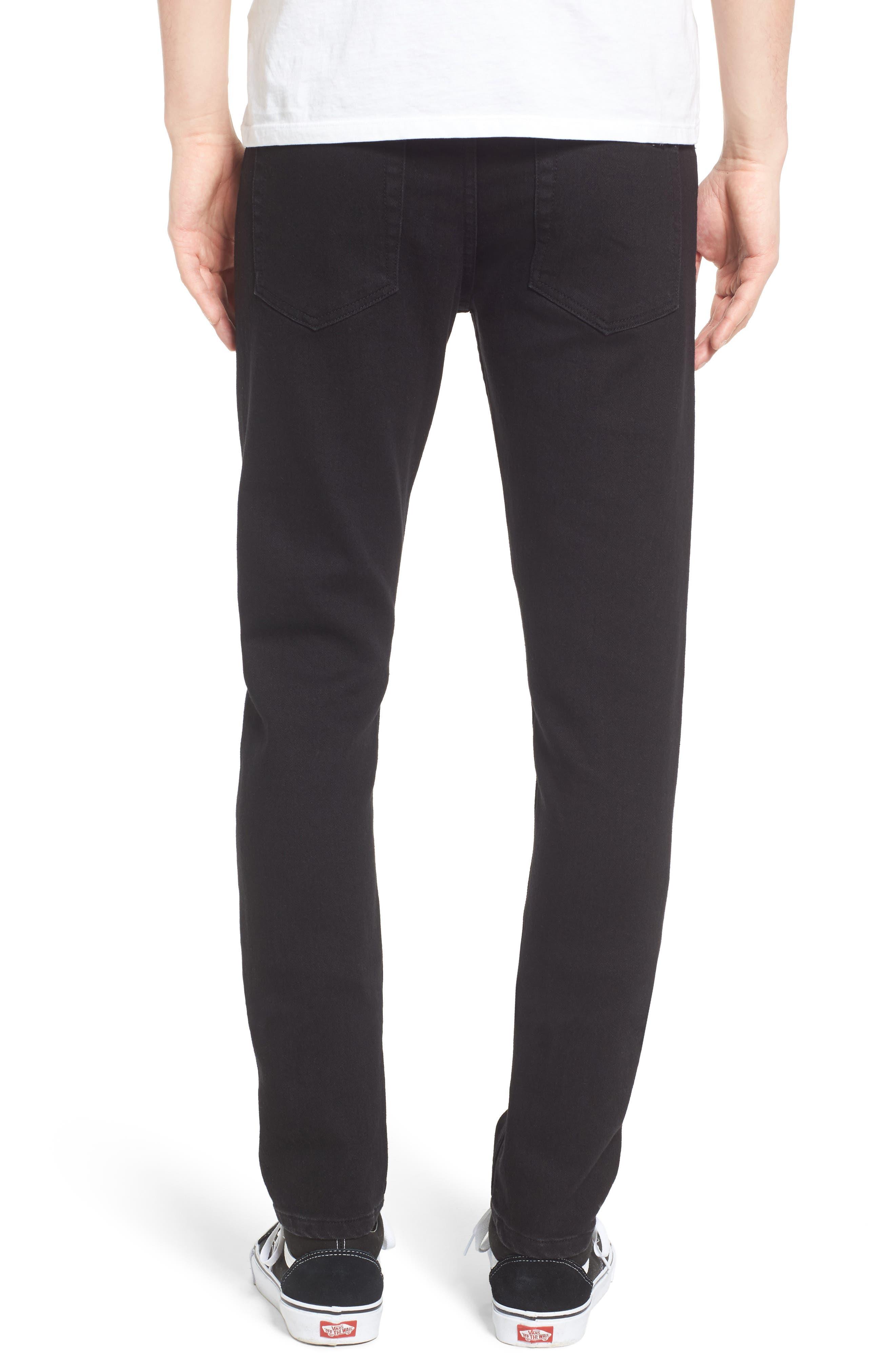 Juvee II Skinny Fit Jeans,                             Alternate thumbnail 2, color,                             Black