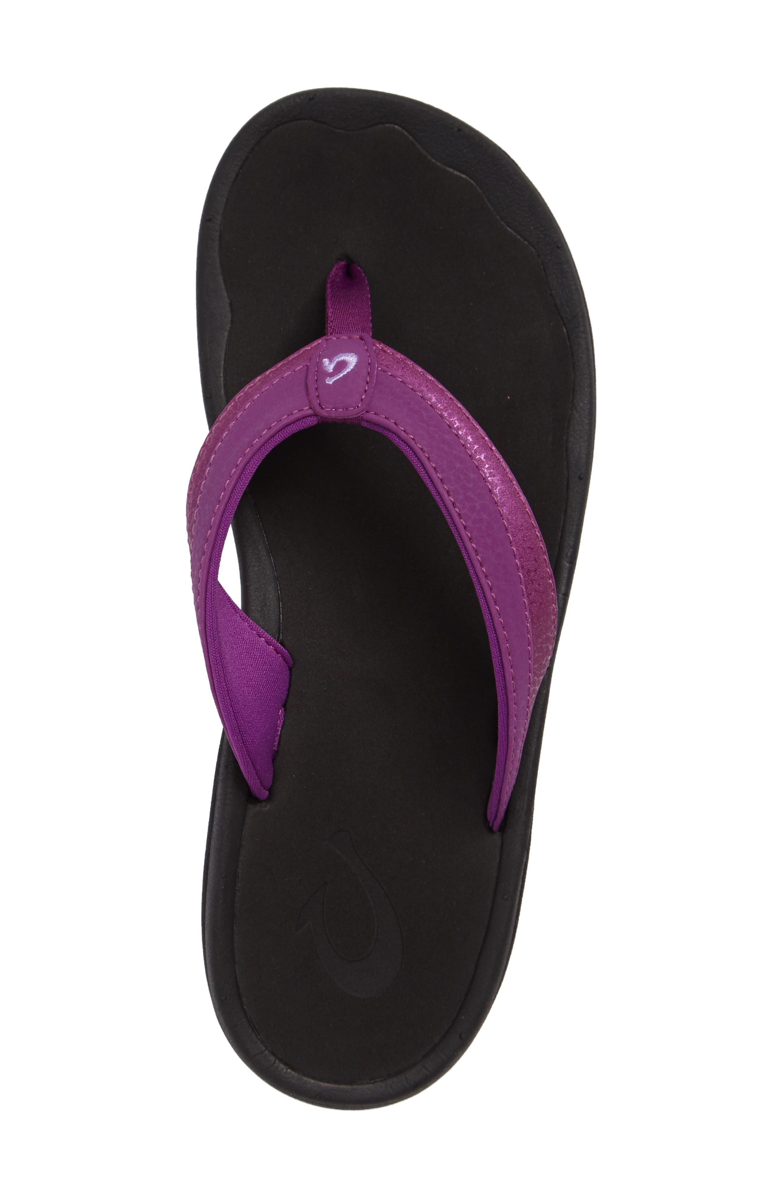 Ohana Sandal,                             Alternate thumbnail 3, color,                             Dahlia/ Black Faux Leather