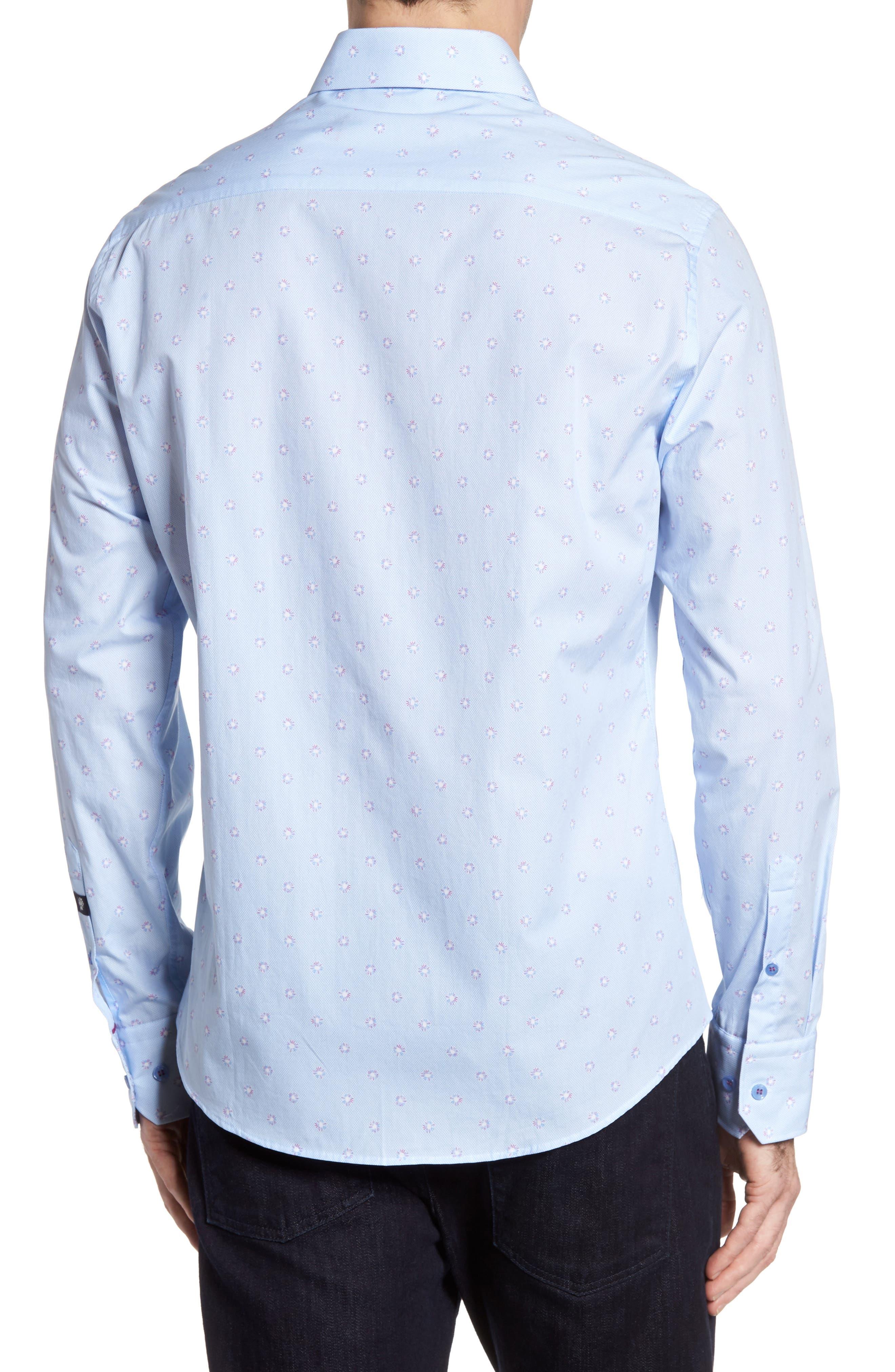 Alternate Image 2  - Stone Rose Slim Fit Dot Sport Shirt