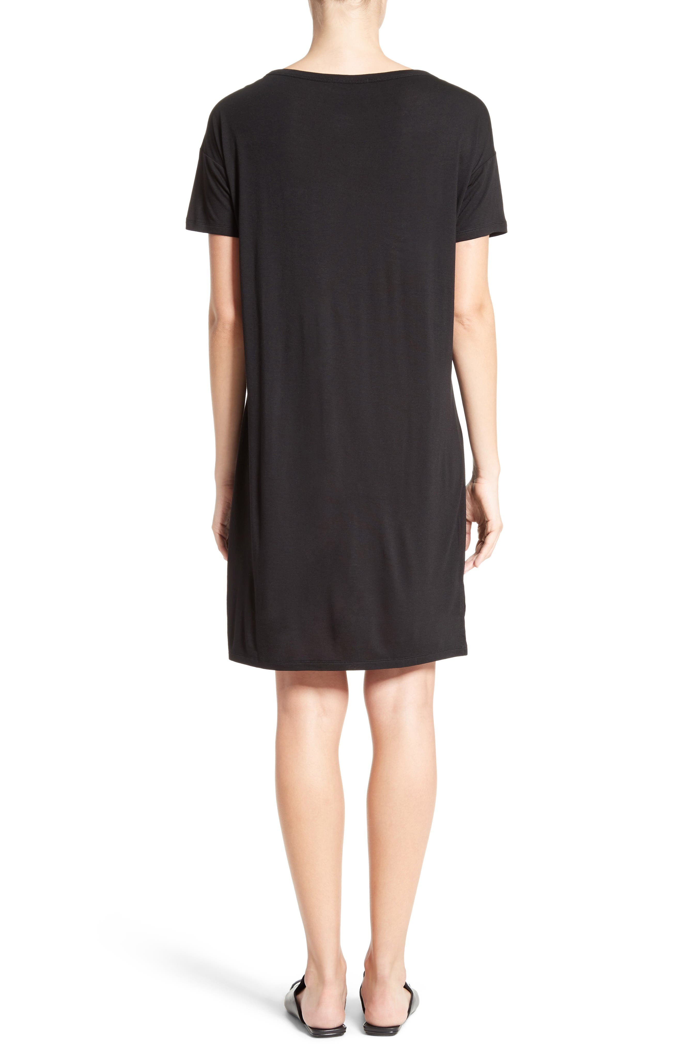 Alternate Image 2  - T by Alexander Wang Boatneck T-Shirt Dress