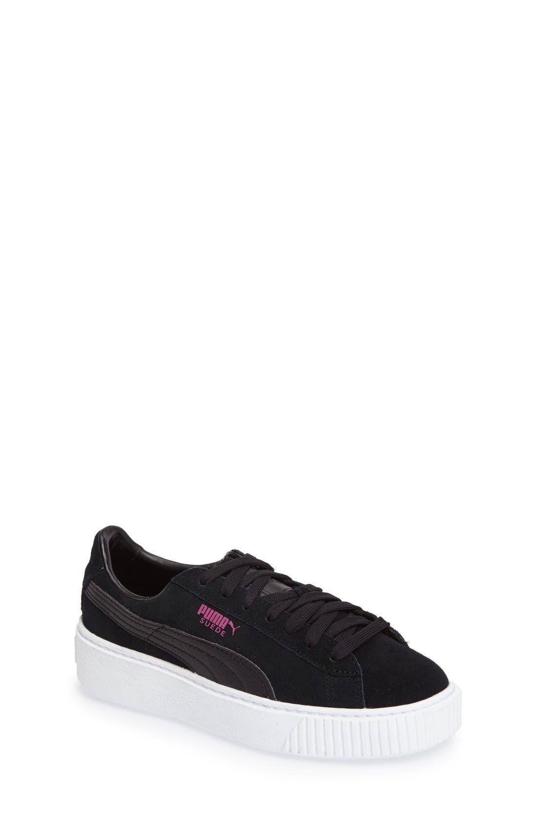 Platform Sneaker,                         Main,                         color, Black