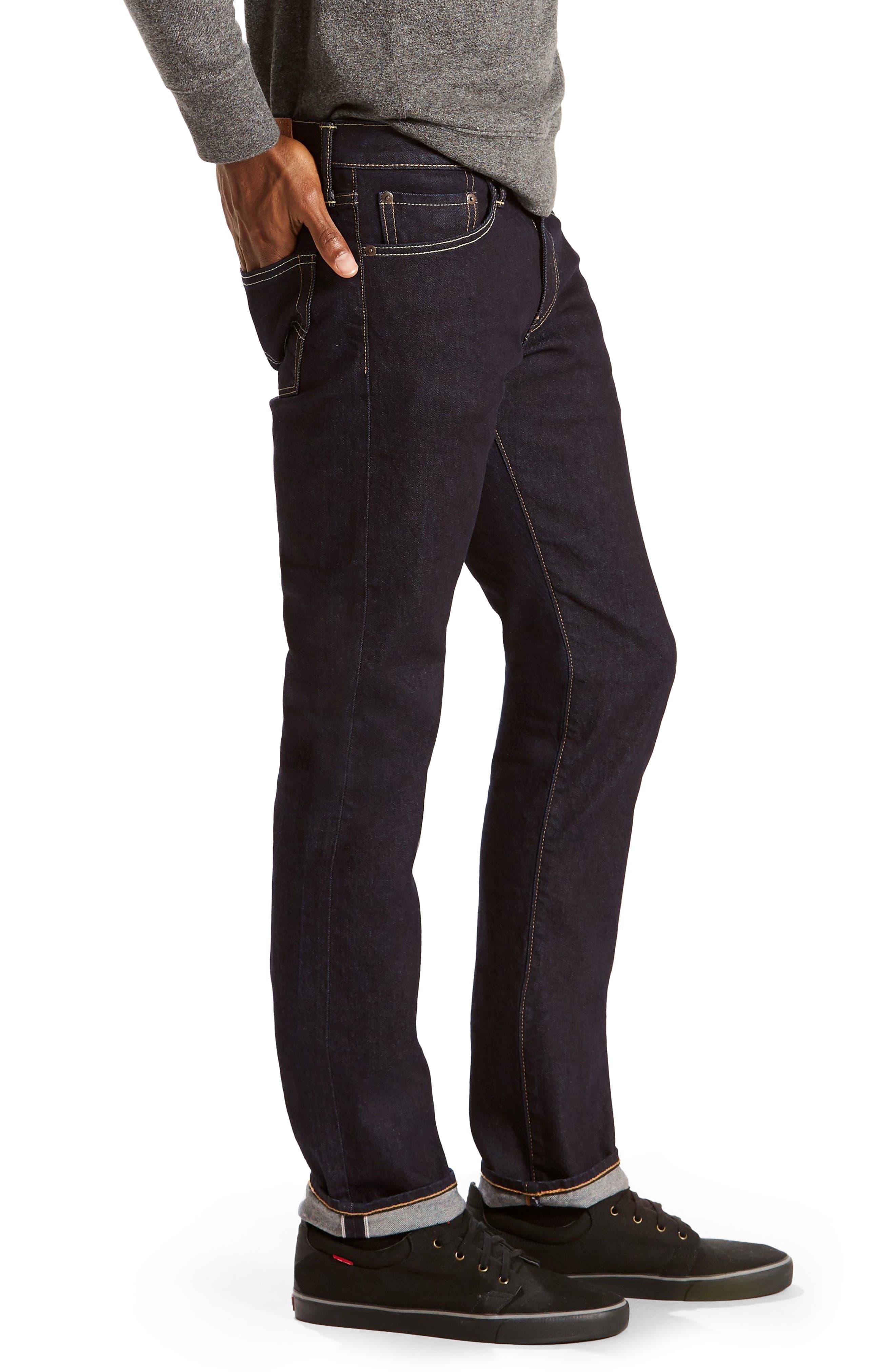 Alternate Image 3  - Levi's 511 Slim Fit Jeans (Selvedge Stirline)