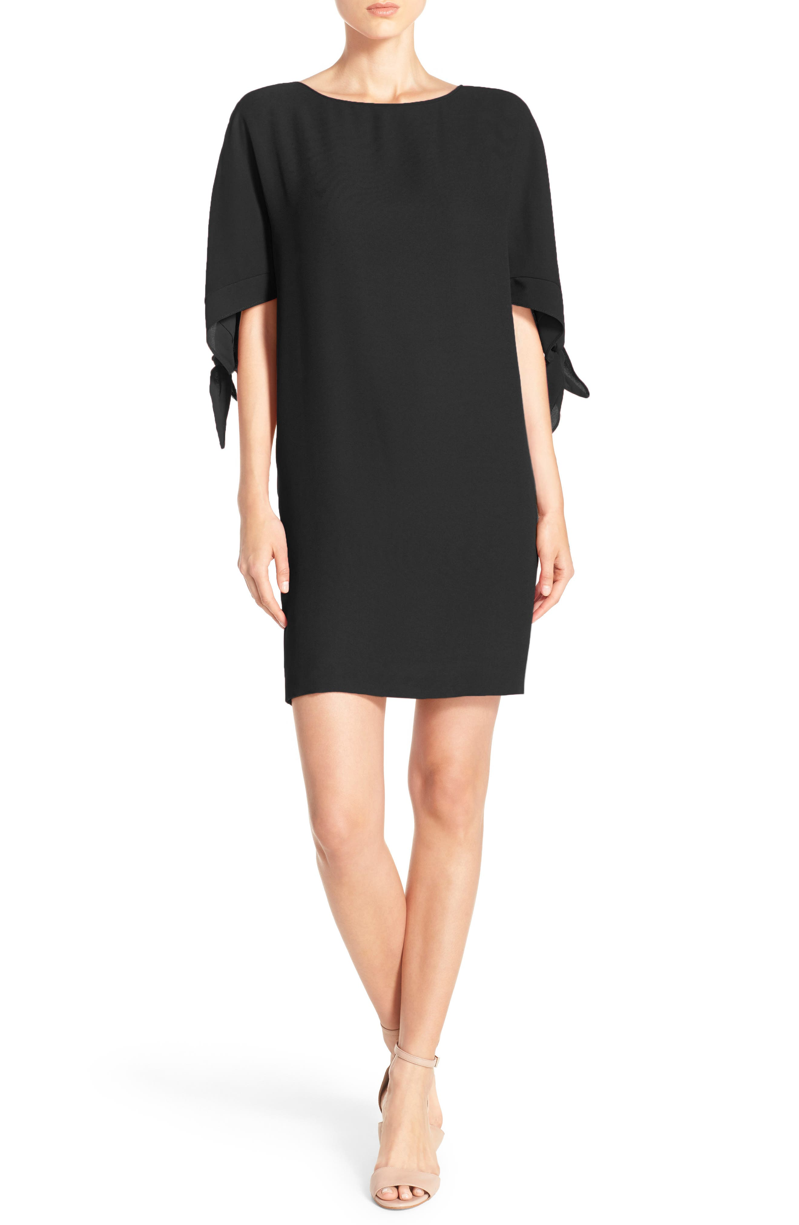 Vince Camuto Cold Shoulder Shift Dress (Regular & Petite)