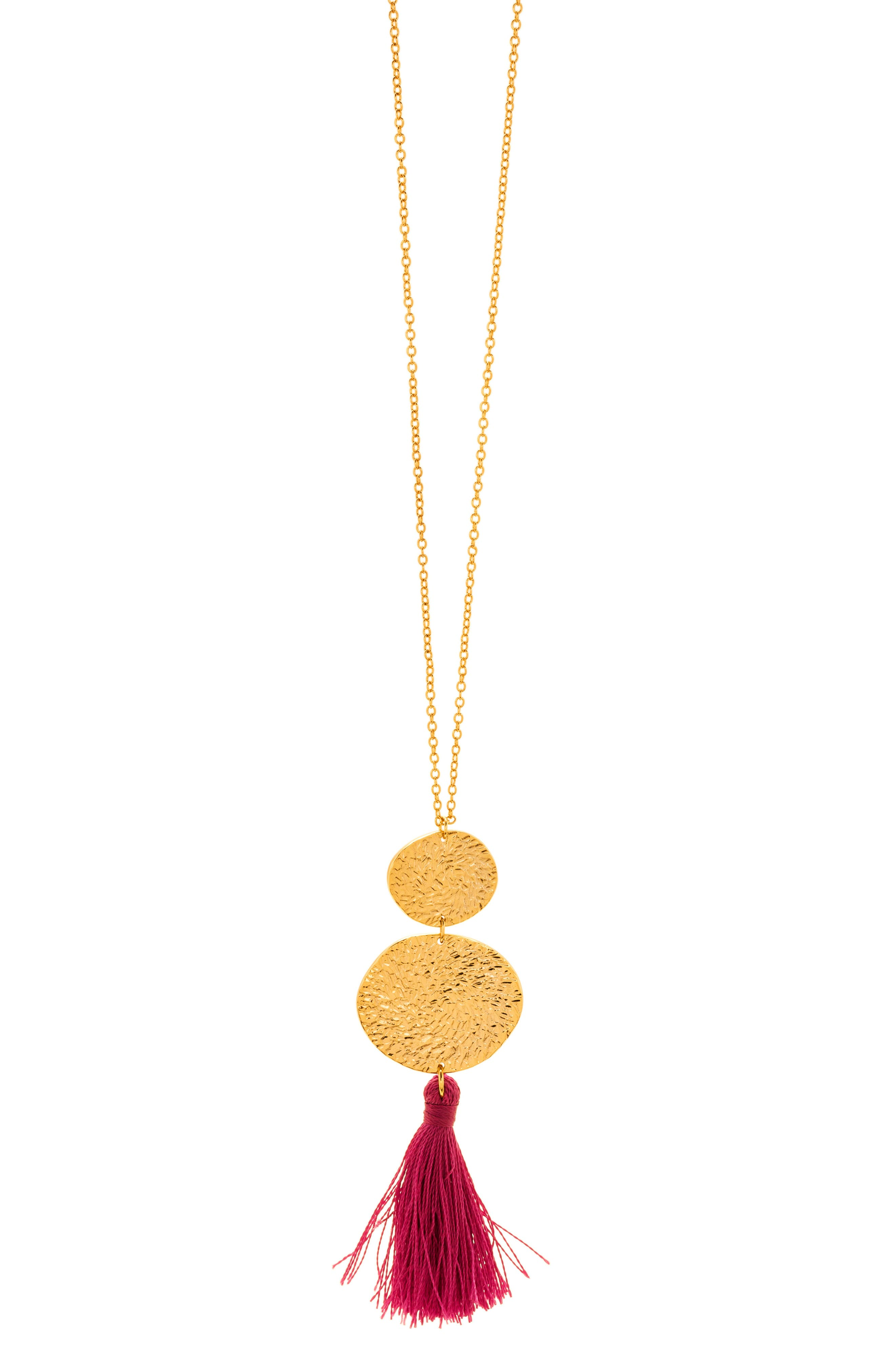 Phoenix Pendant Necklace,                             Alternate thumbnail 2, color,                             Berry/Gold