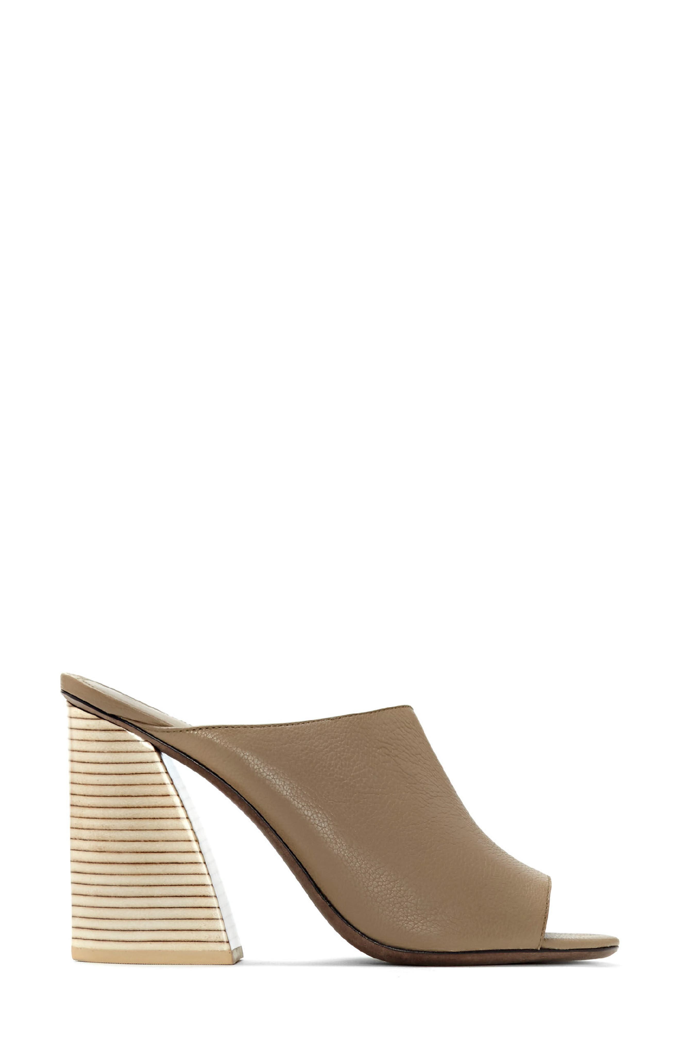 Izar Mule,                             Alternate thumbnail 2, color,                             Taupe Leather