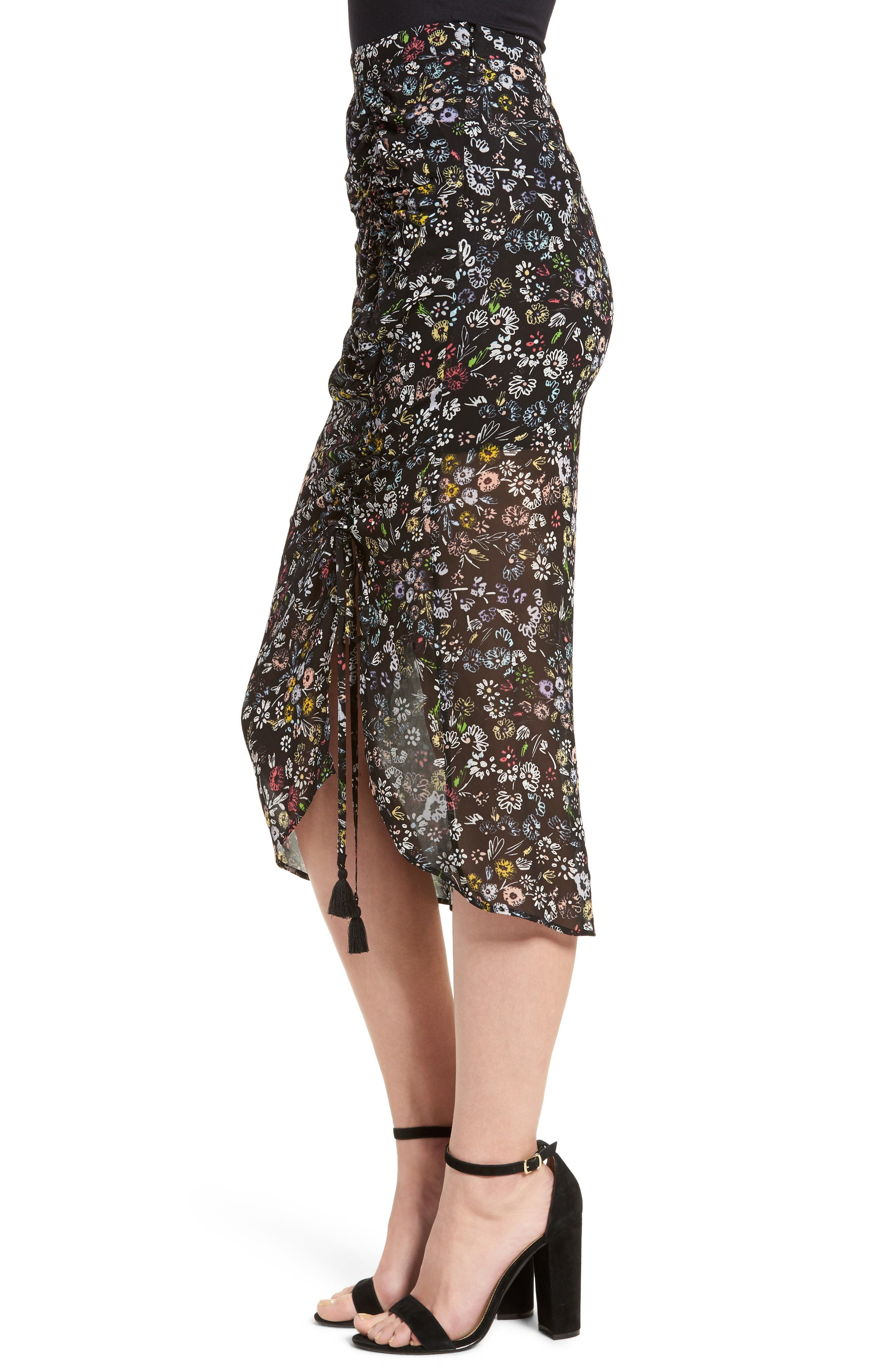 Alternate Image 4  - Rebecca Minkoff Romy Floral Print Skirt
