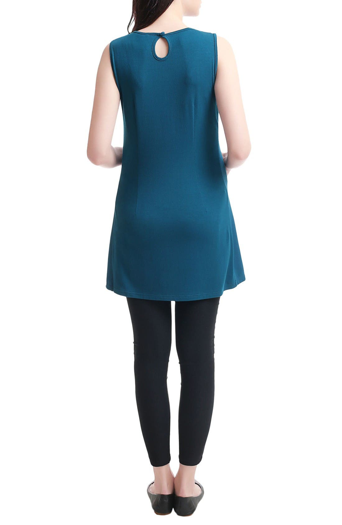 Epona Maternity/Nursing Shift Dress,                             Alternate thumbnail 2, color,                             Deep Sea