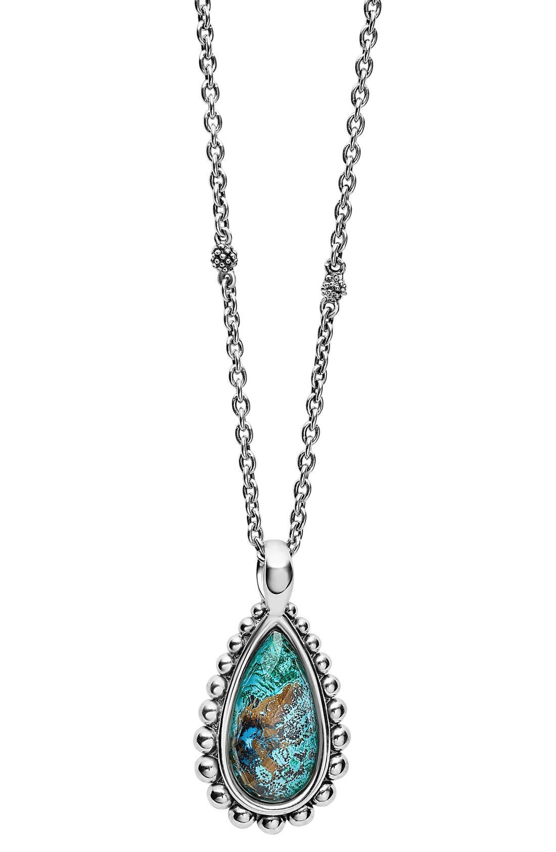 Alternate Image 1 Selected - LAGOS 'Maya' Teardrop Pendant Necklace