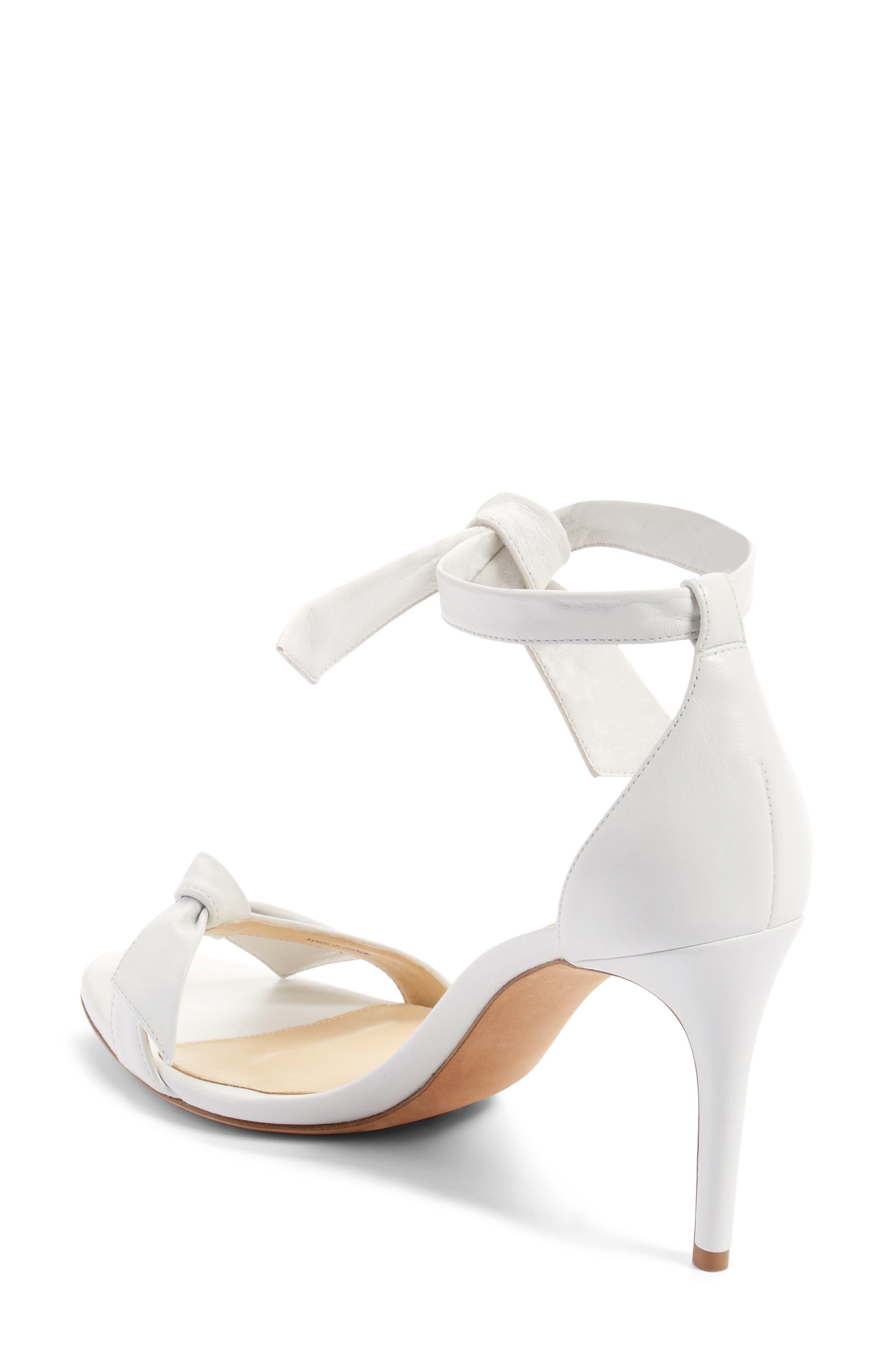 Clarita Ankle Tie Sandal,                             Alternate thumbnail 2, color,                             White Leather