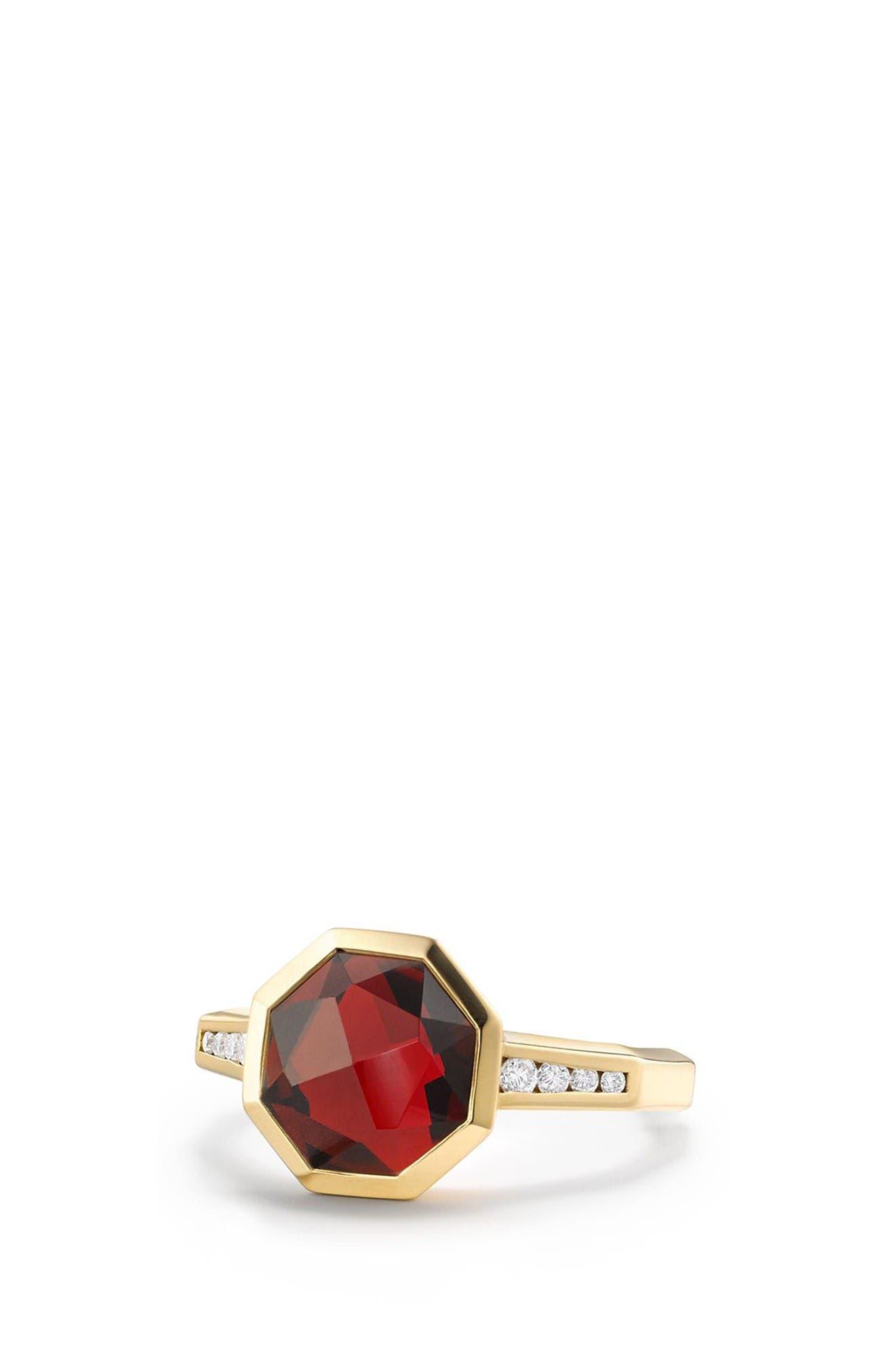 David Yurman Guilin Octagon Ring with Diamonds in 18K Gold