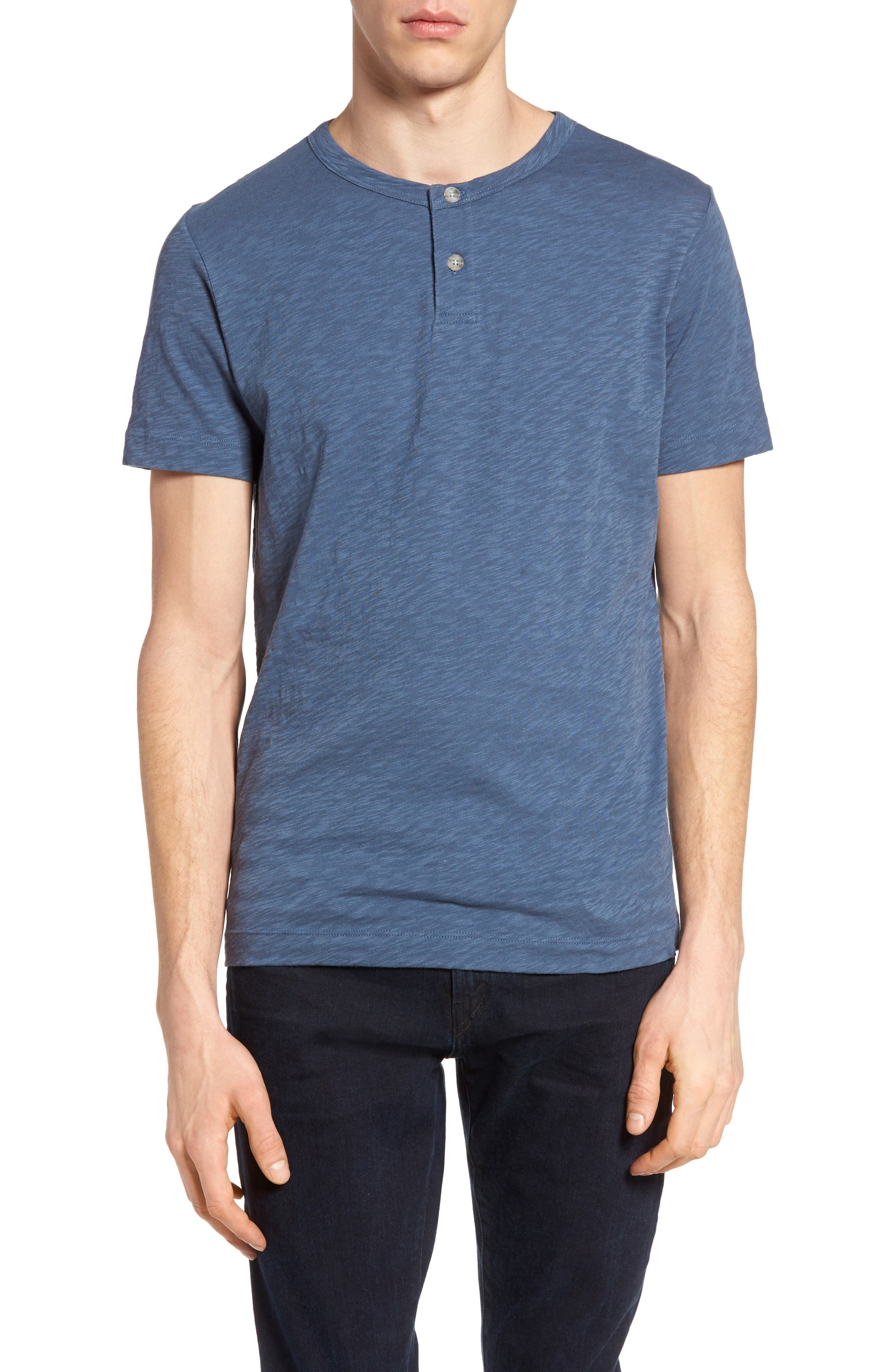 Gaskell Henley T-Shirt,                         Main,                         color, County Line