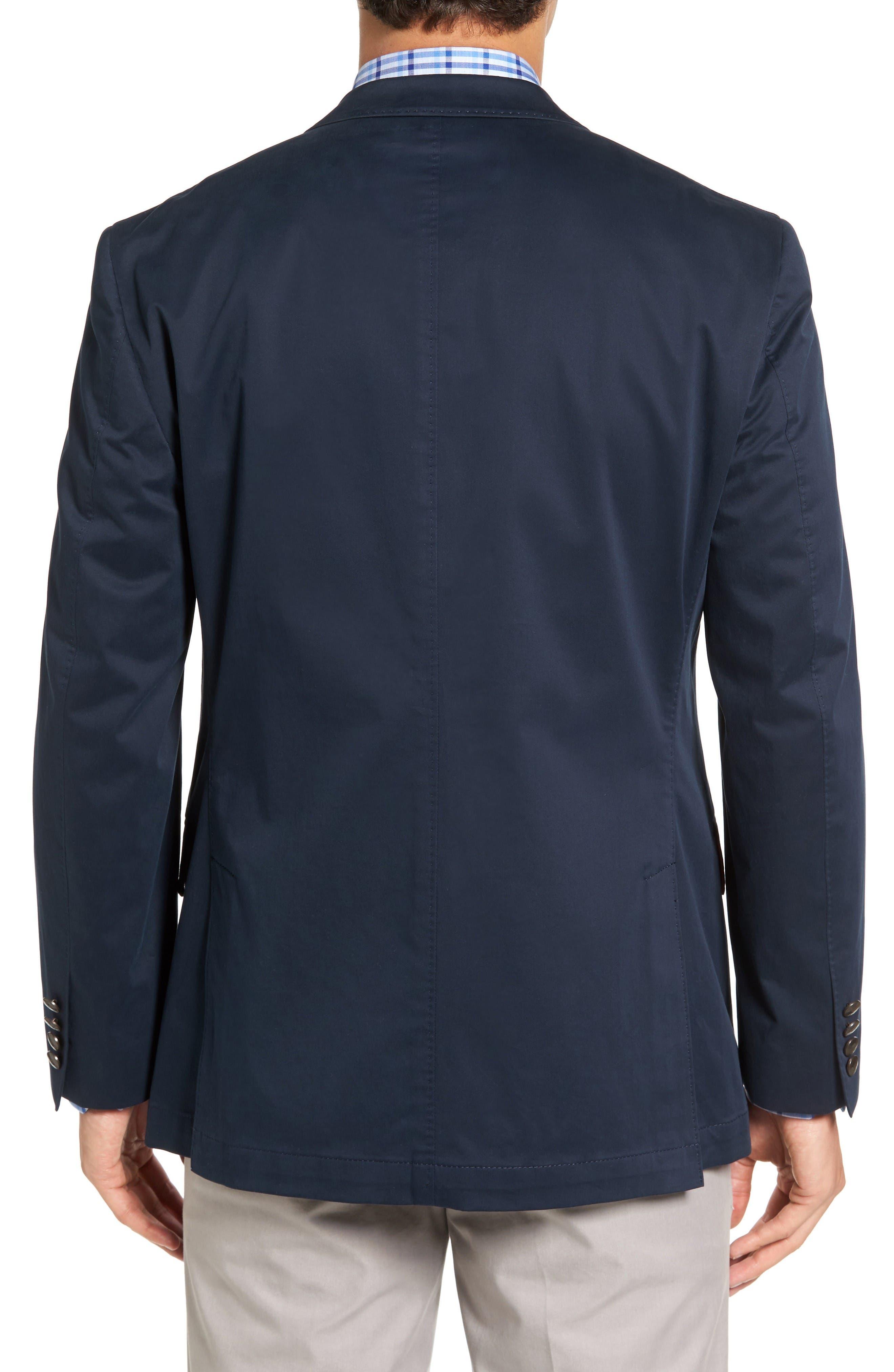Mathis Classic Fit Stretch Cotton Blazer,                             Alternate thumbnail 2, color,                             Navy