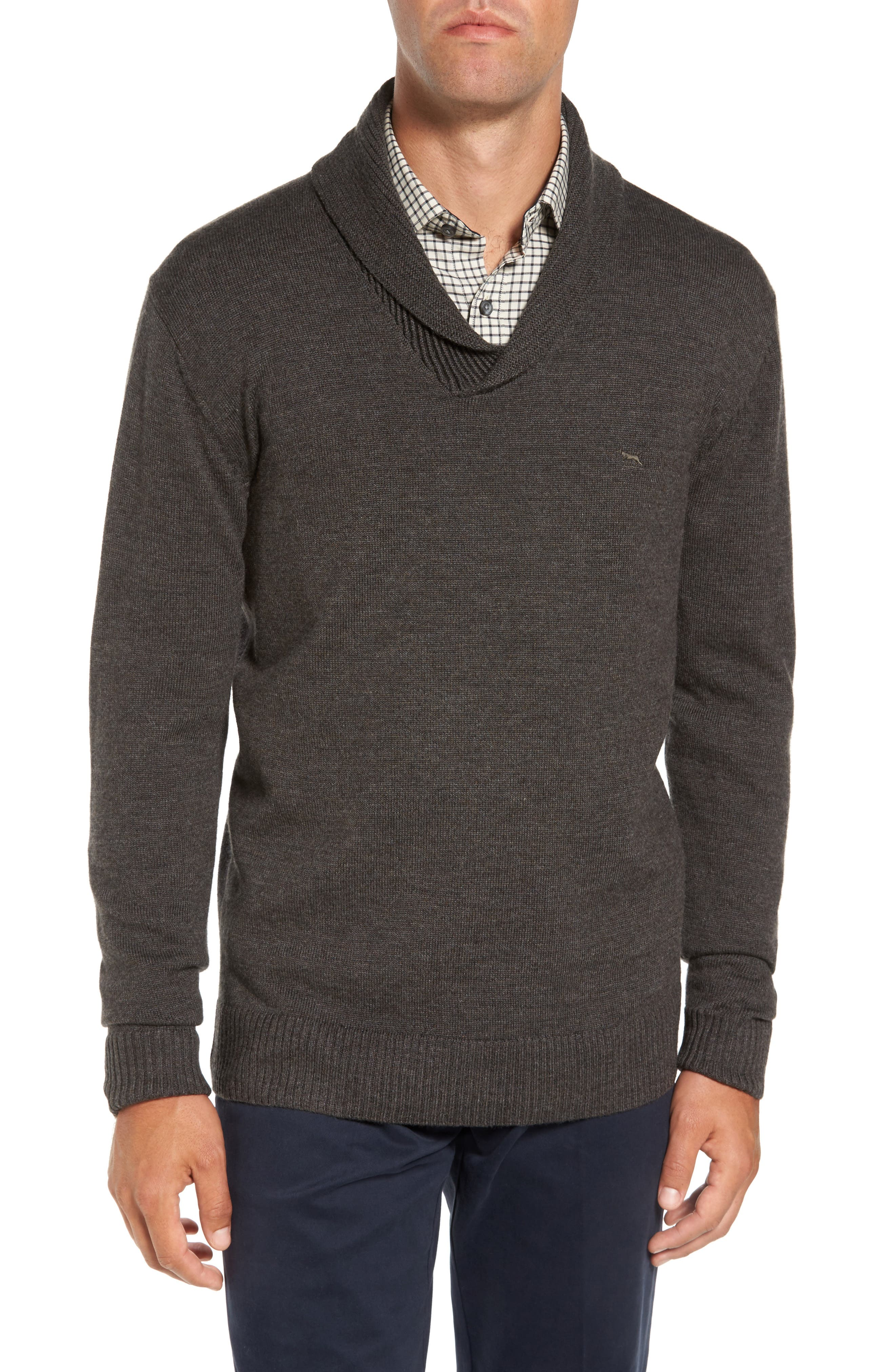 PT Chevalier Shawl Collar Sweater,                         Main,                         color, Taupe