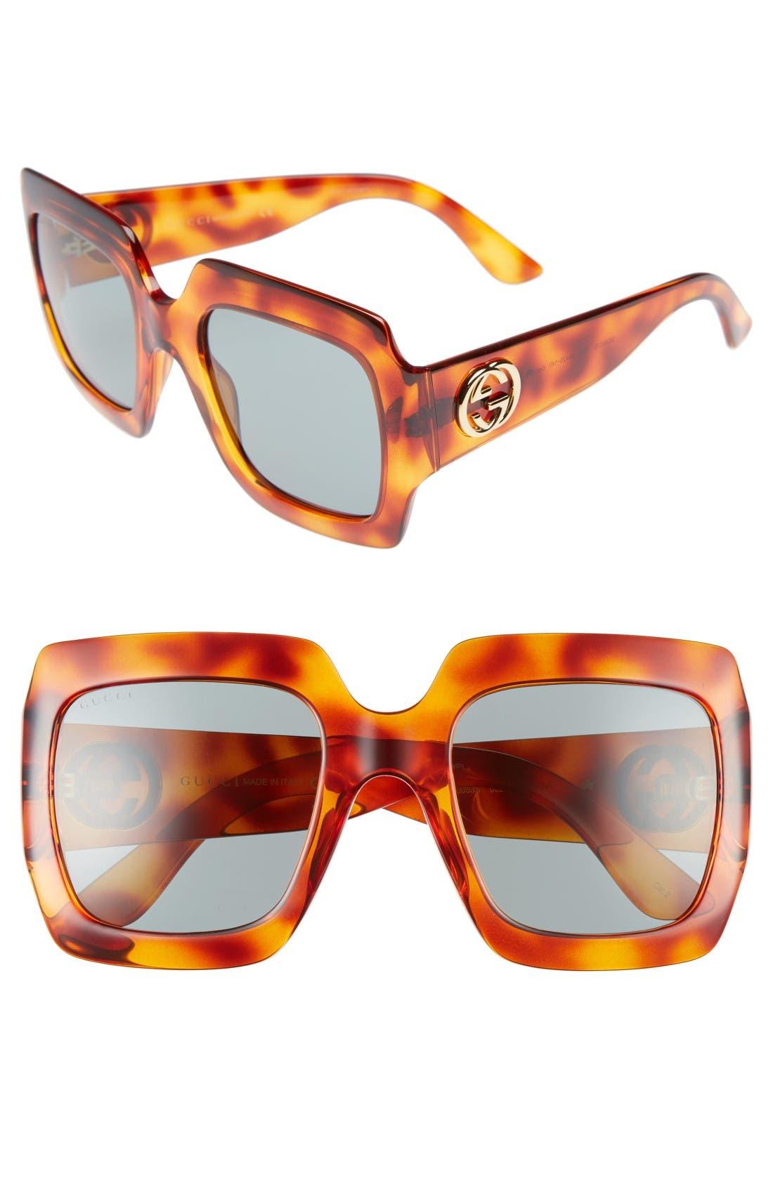Main Image - Gucci 54mm Square Sunglasses