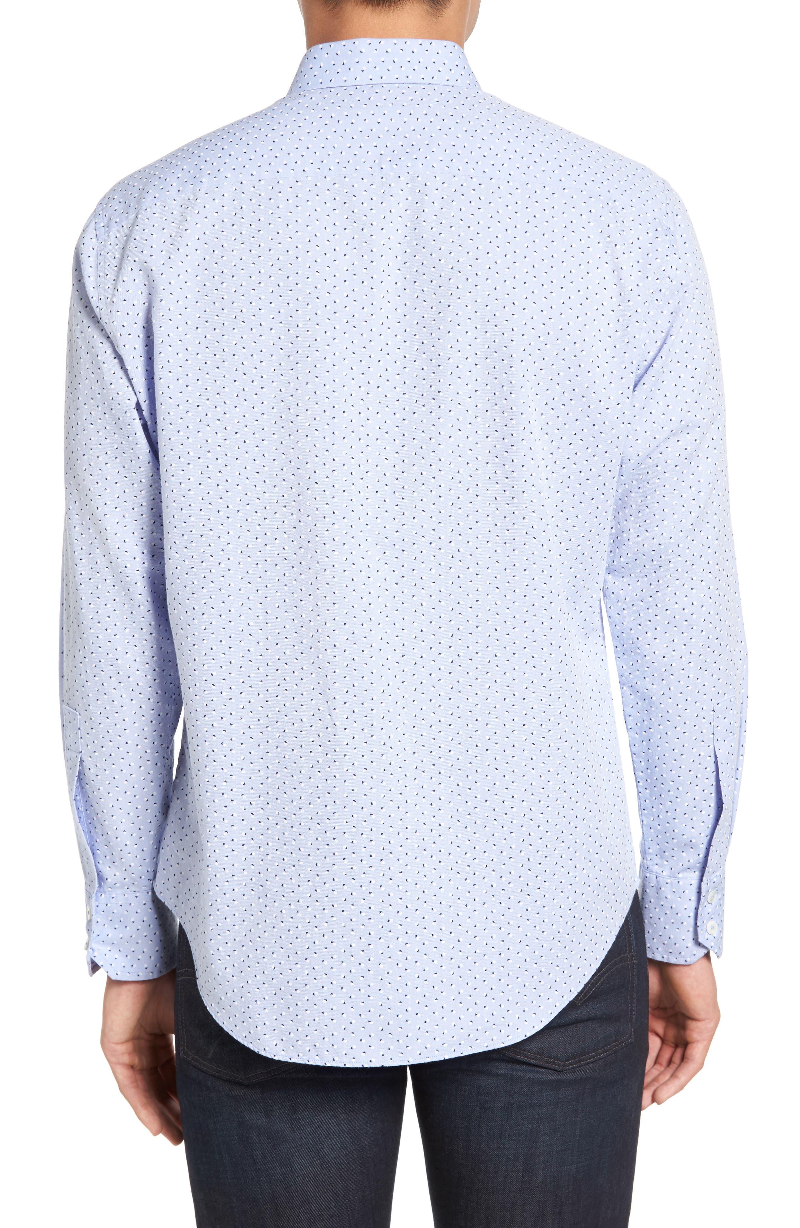 Benedict Print Sport Shirt,                             Alternate thumbnail 2, color,                             Pale Blue