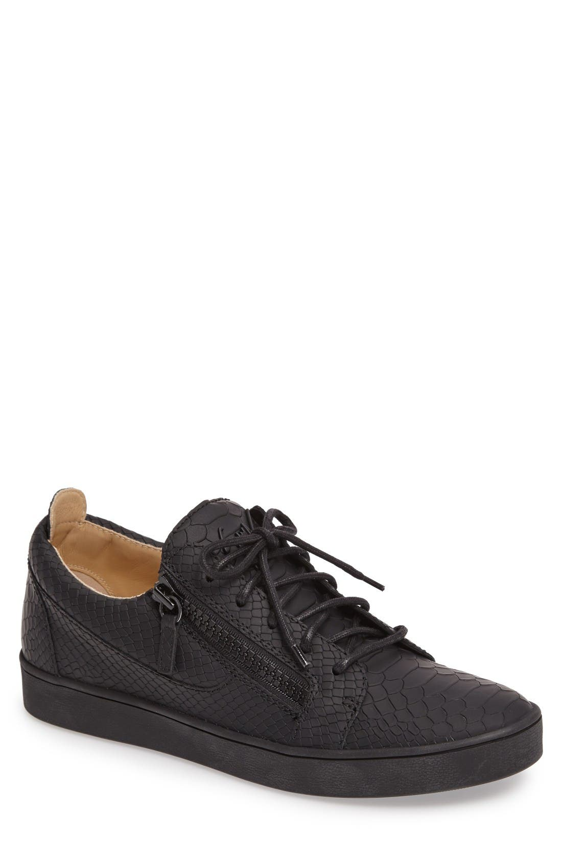 GIUSEPPE ZANOTTI Embossed Side Zip Sneaker