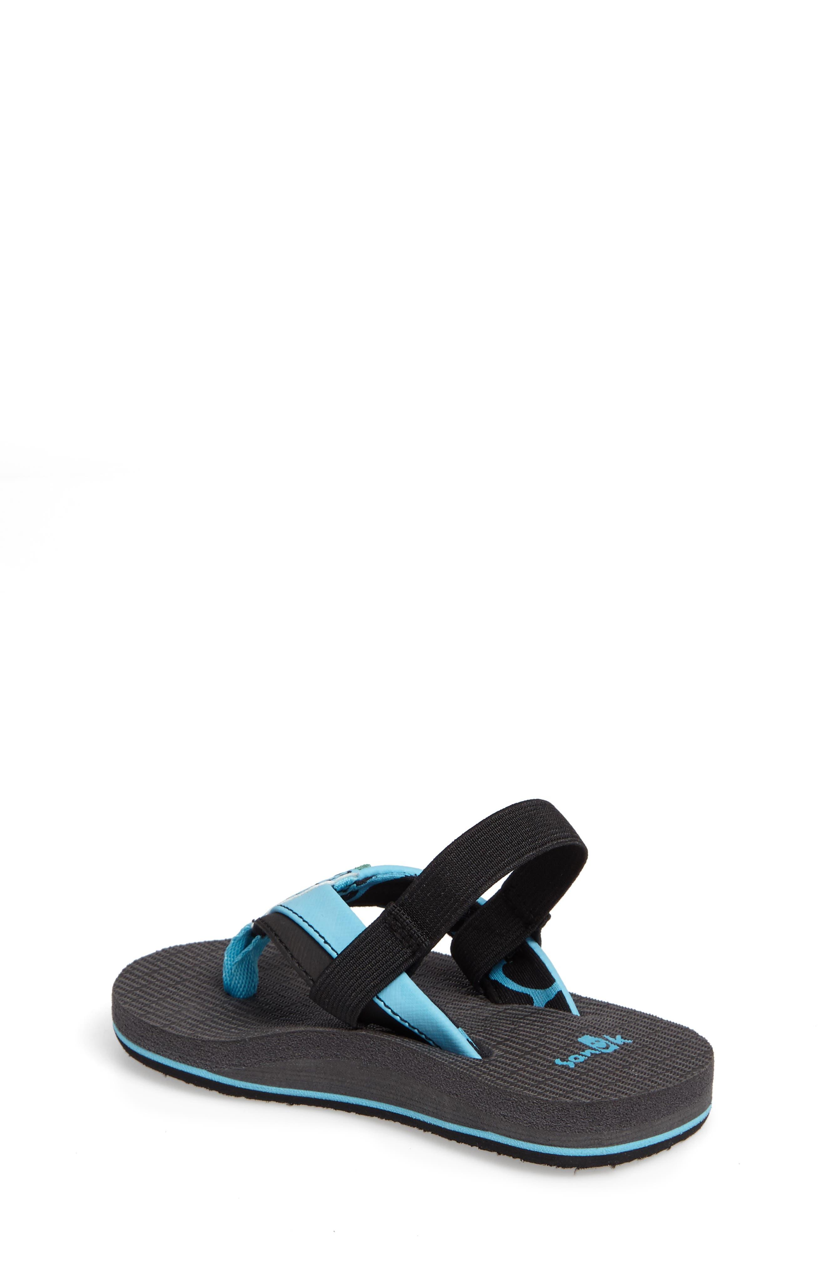 'Rootbeer Cozy' Lightweight Flip Flop Sandal,                             Alternate thumbnail 2, color,                             Aqua/ Black