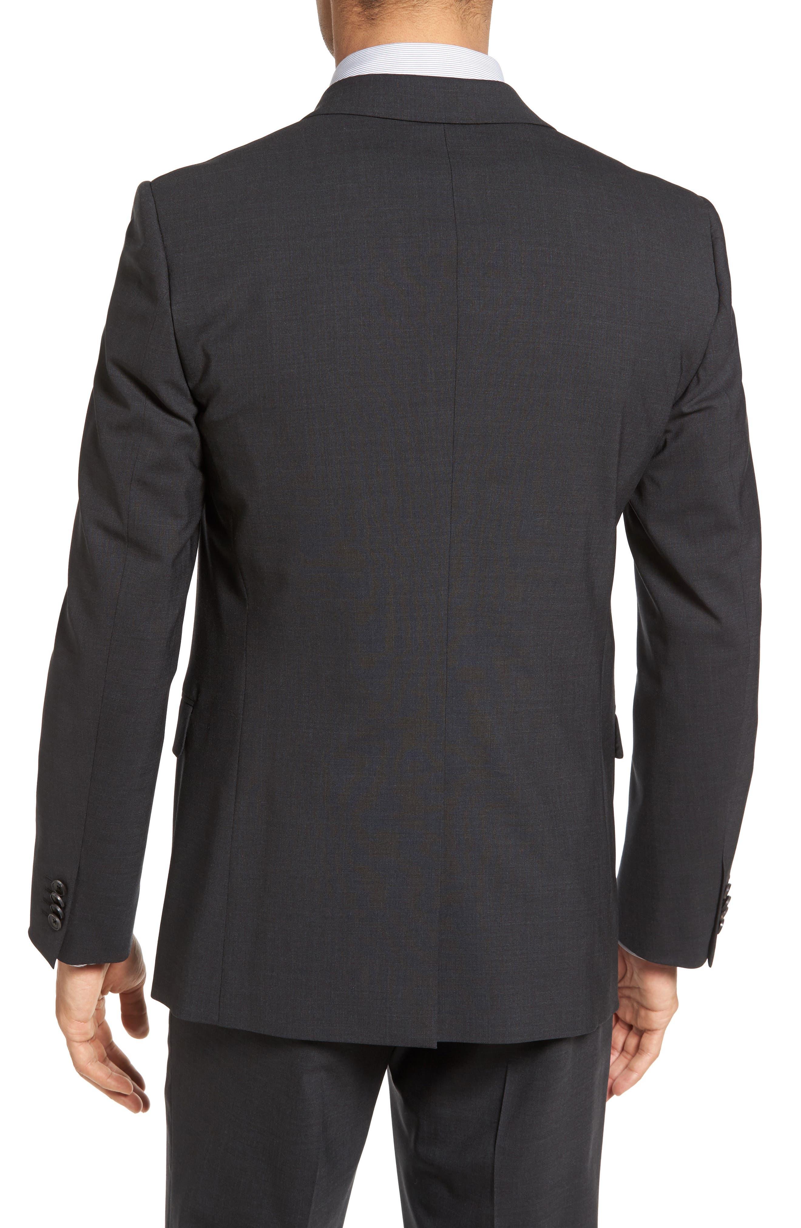 Wellar New Tailor 1 Trim Fit Stretch Wool Sport Coat,                             Alternate thumbnail 2, color,                             Dark Charcoal