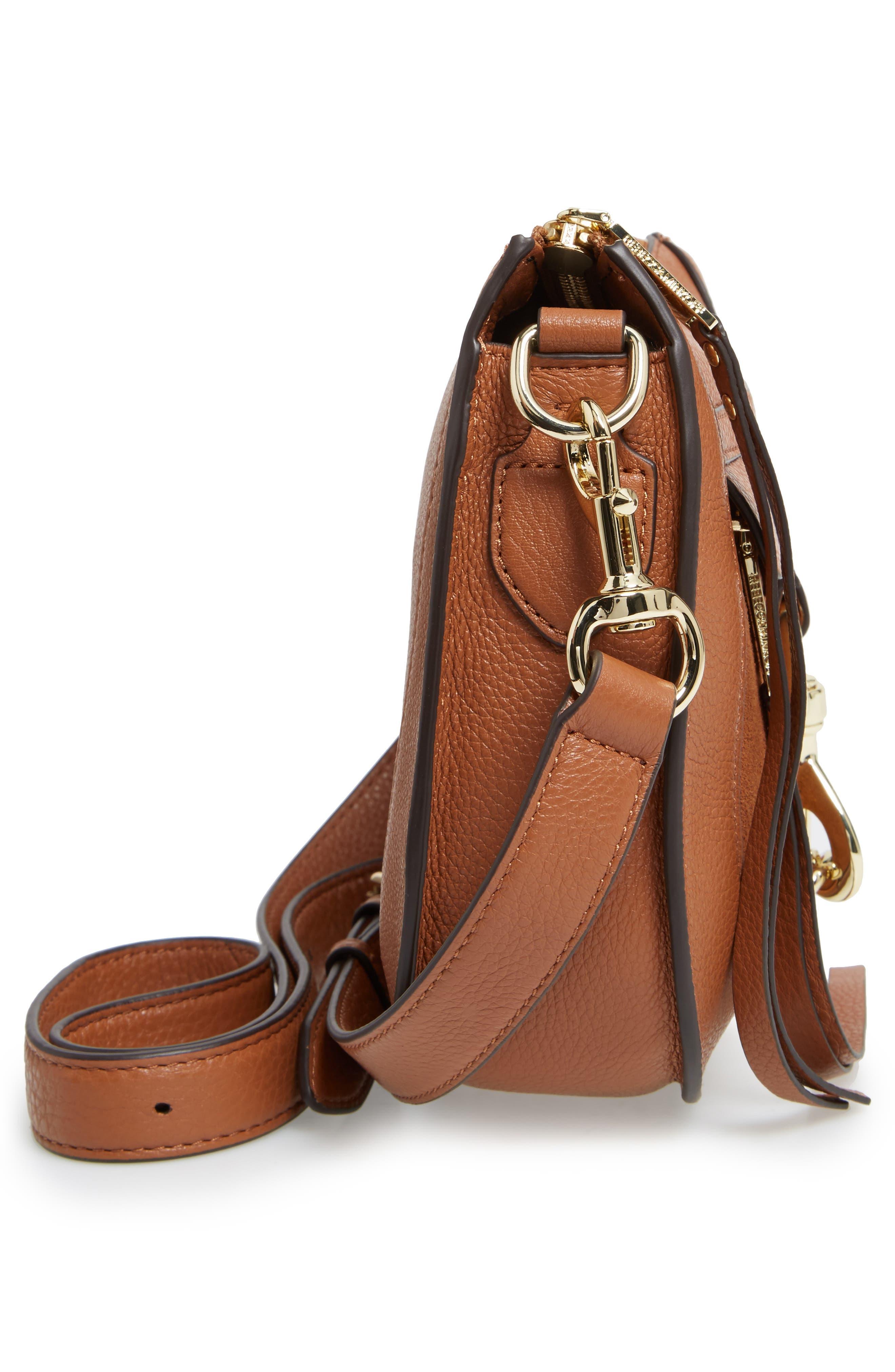 Alternate Image 5  - Rebecca Minkoff Dog Clip Leather & Suede Saddle Bag (Nordstrom Exclusive)