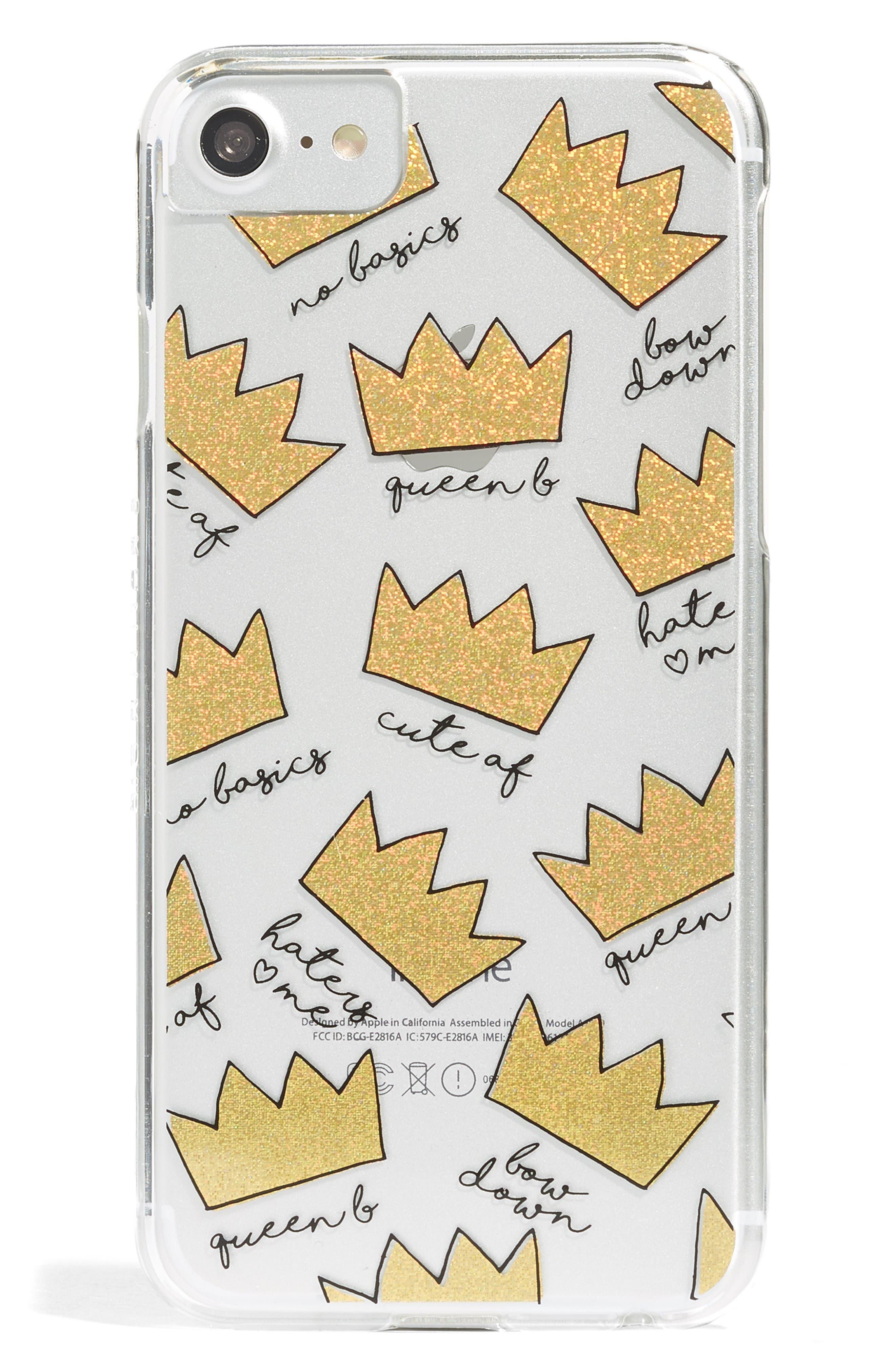 Main Image - Skinnydip Crown iPhone 6/7 & 6/7 Plus Case