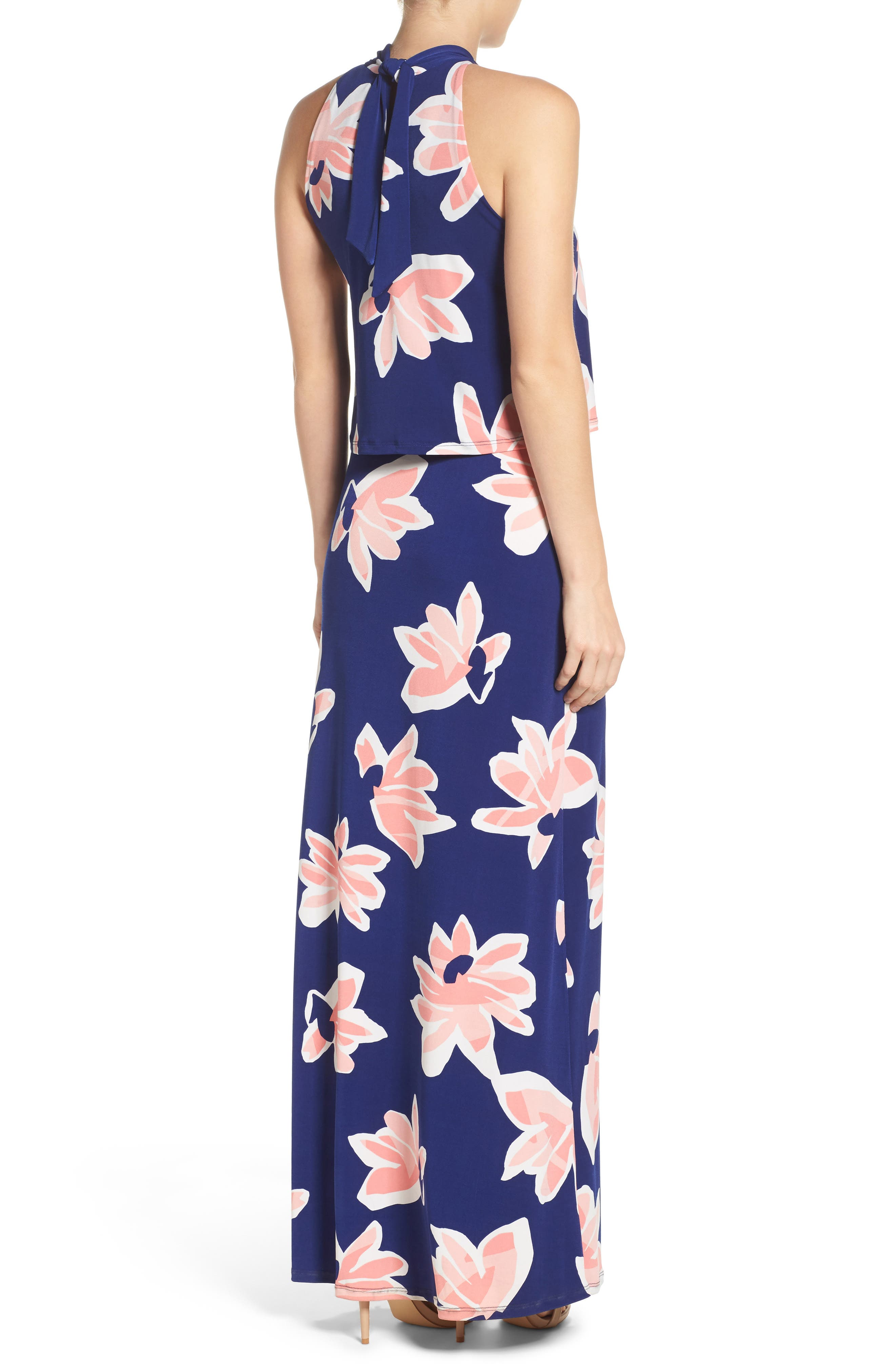 'Syler' Popover Jersey Maxi Dress,                             Alternate thumbnail 2, color,                             Waterlily