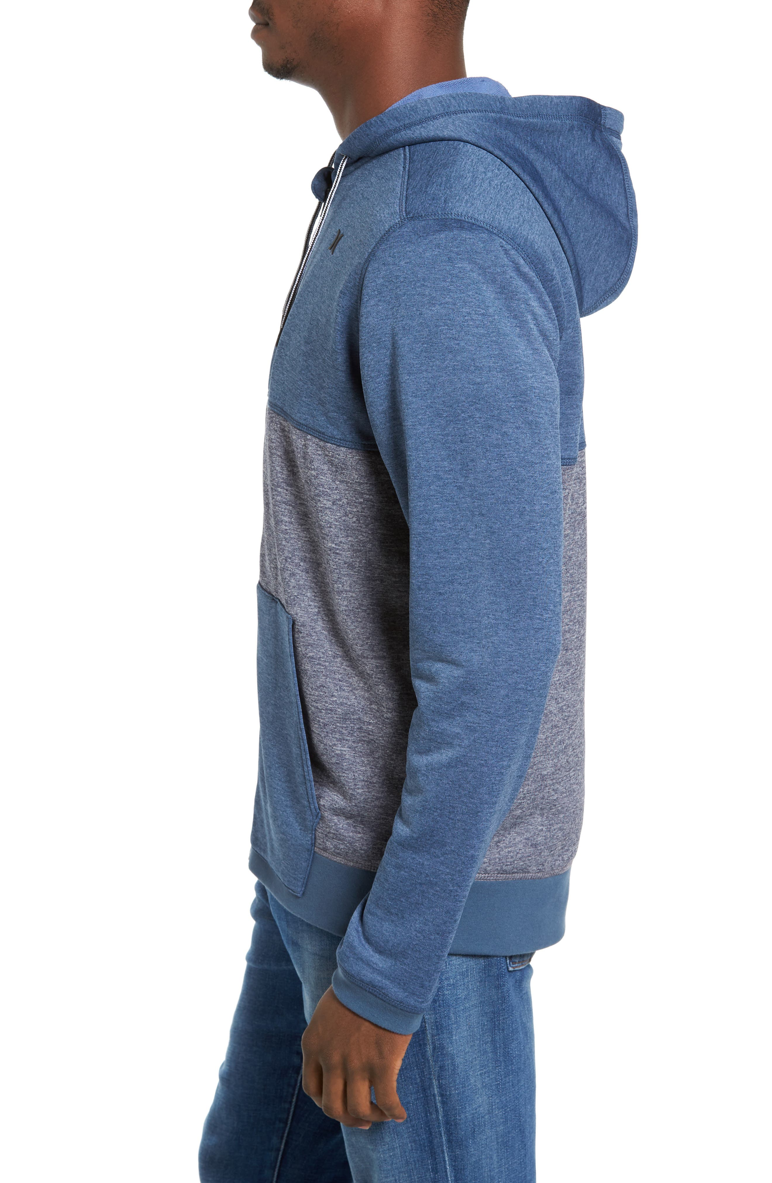 Dri-FIT Disperse Colorblock Zip Hoodie,                             Alternate thumbnail 3, color,                             Squadron B
