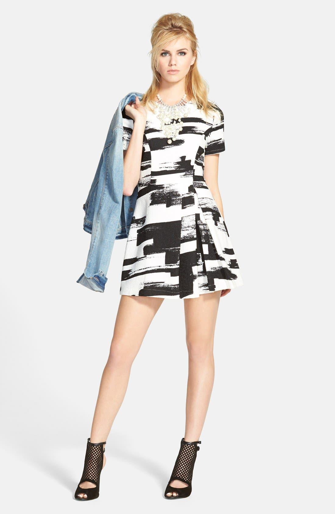 Alternate Image 4  - re:named Paneled Short Sleeve Dress