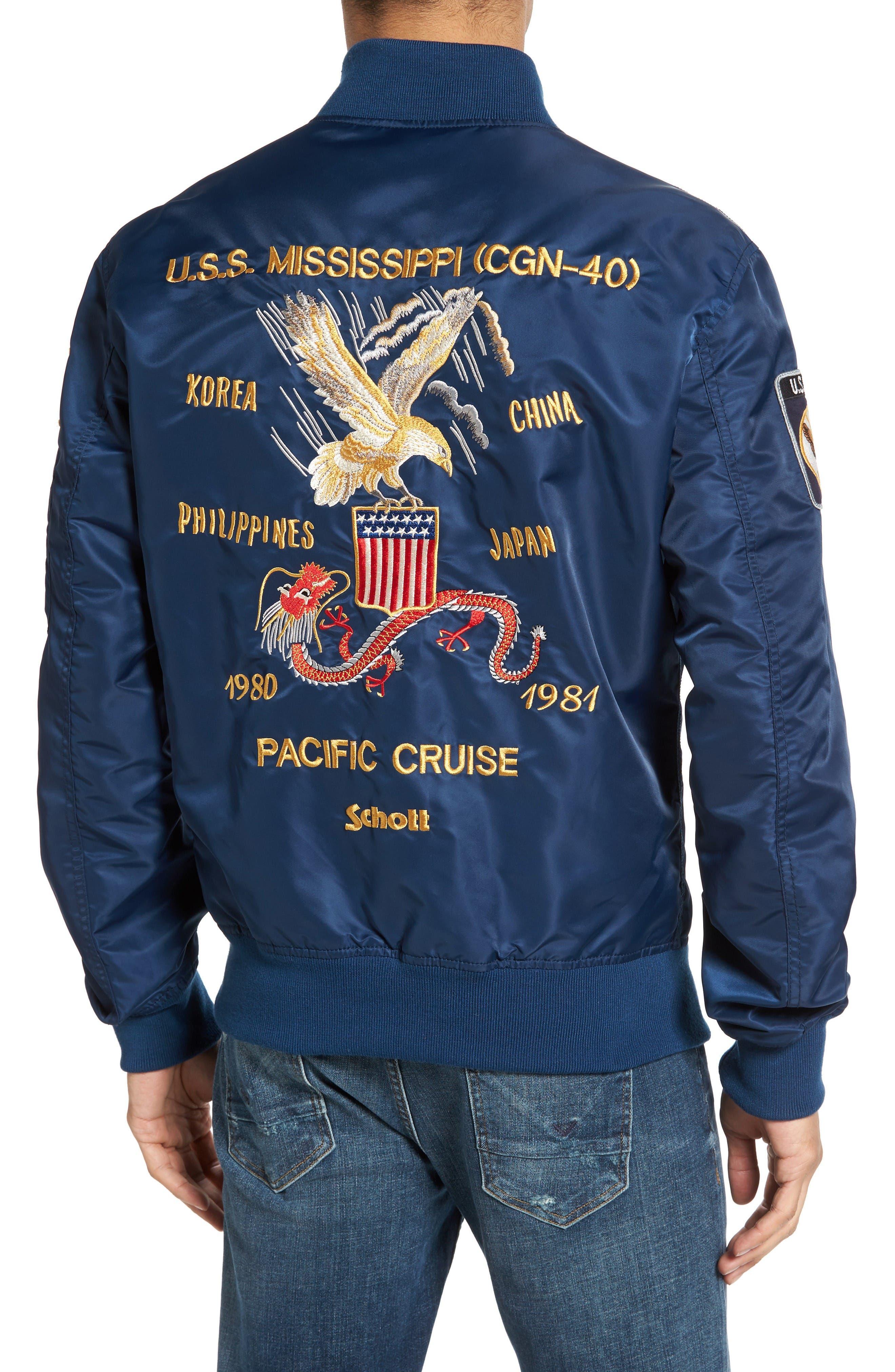 Alternate Image 2  - Schott NYC USS Mississippi Bomber Jacket